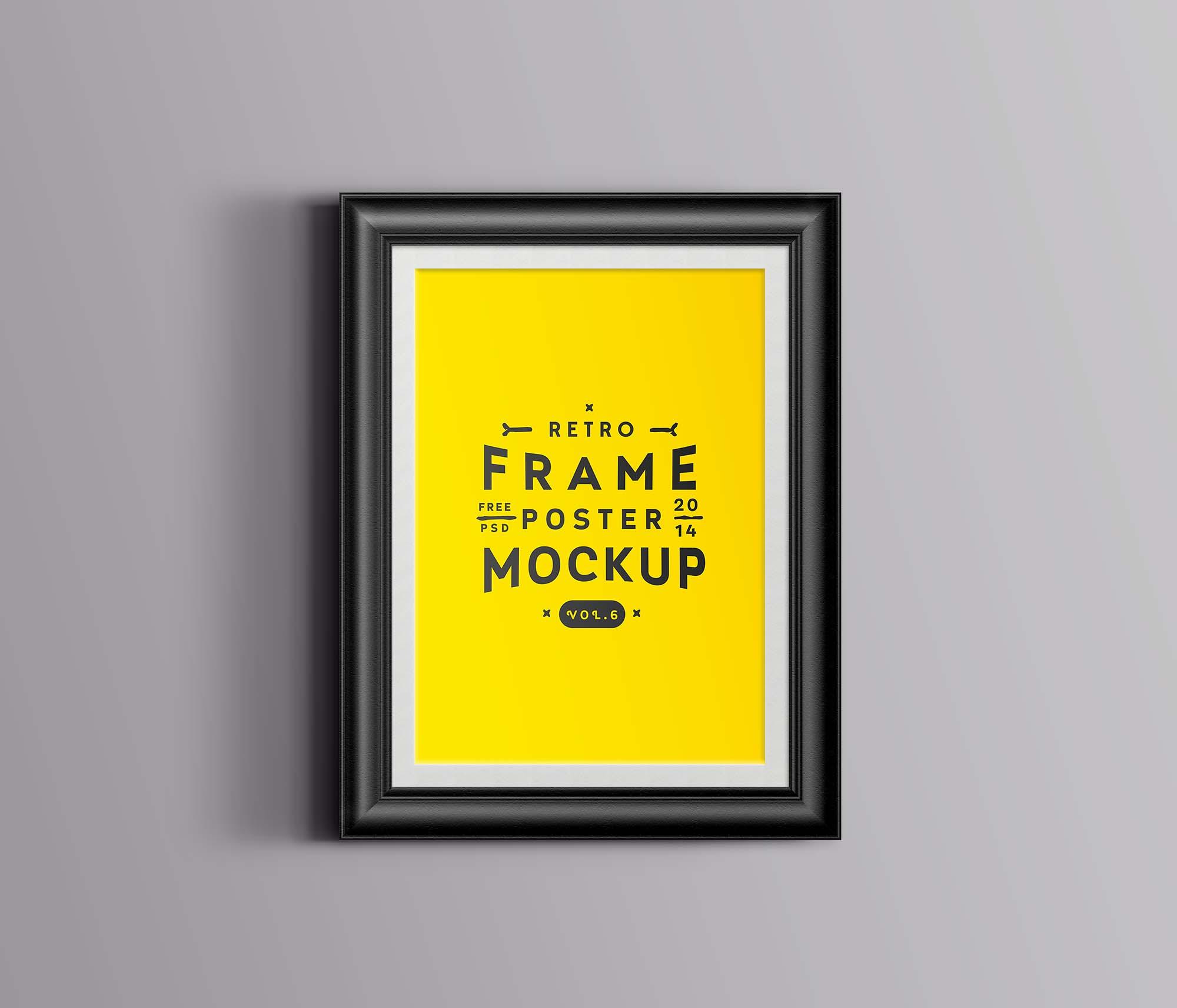 Retro Poster Frame Mockup