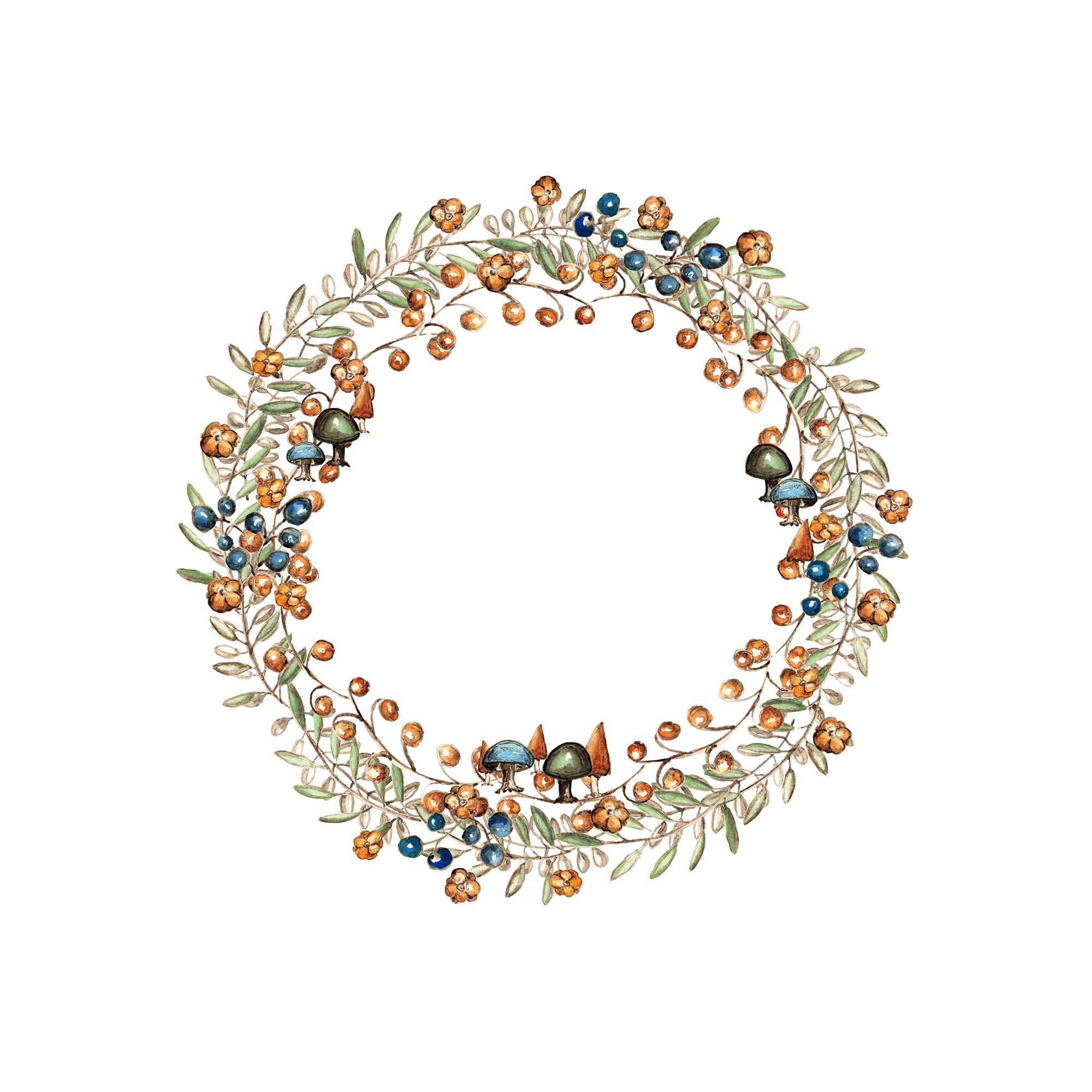 Watercolor Wreath Design