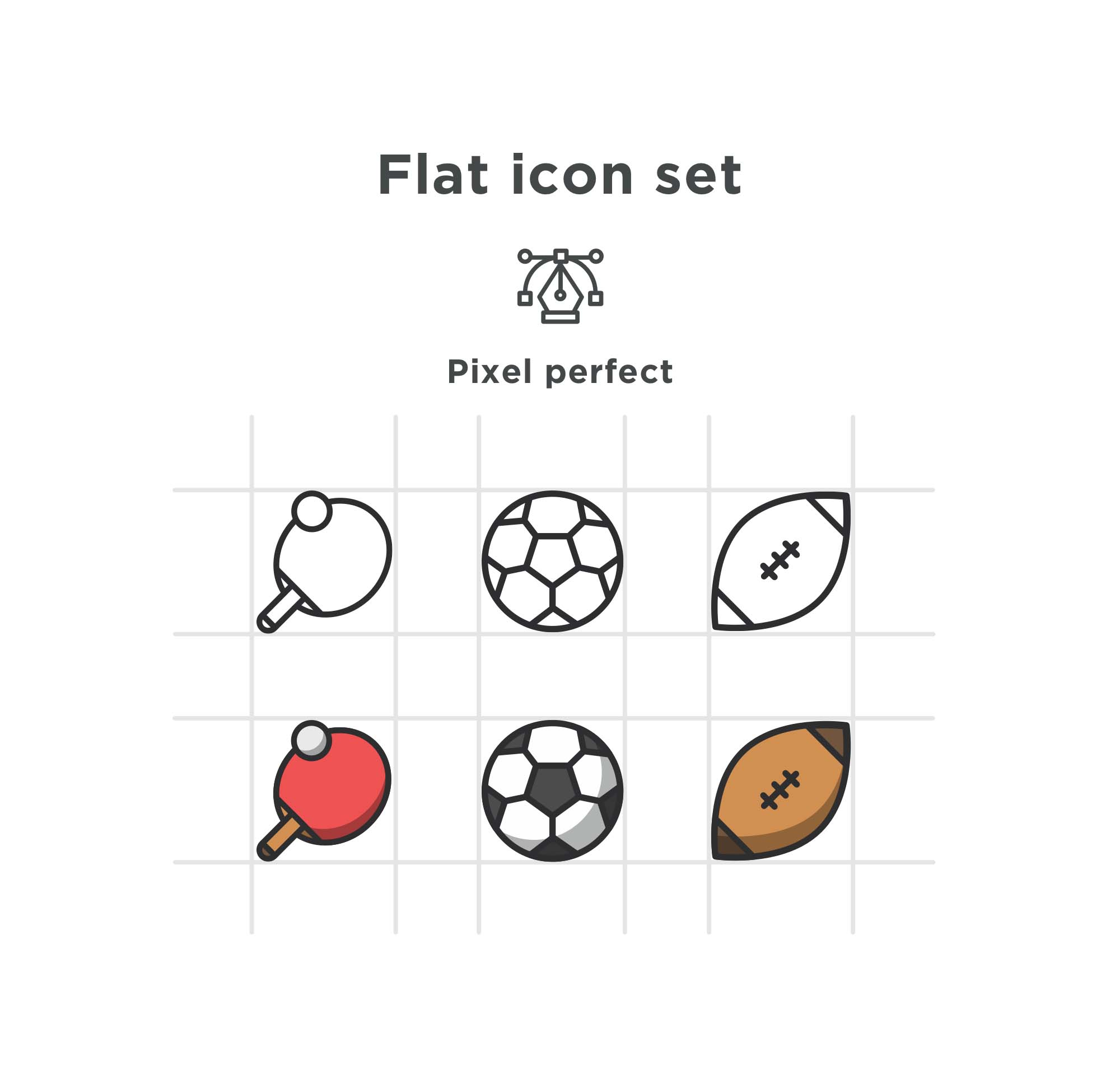 Sport Icons Flat