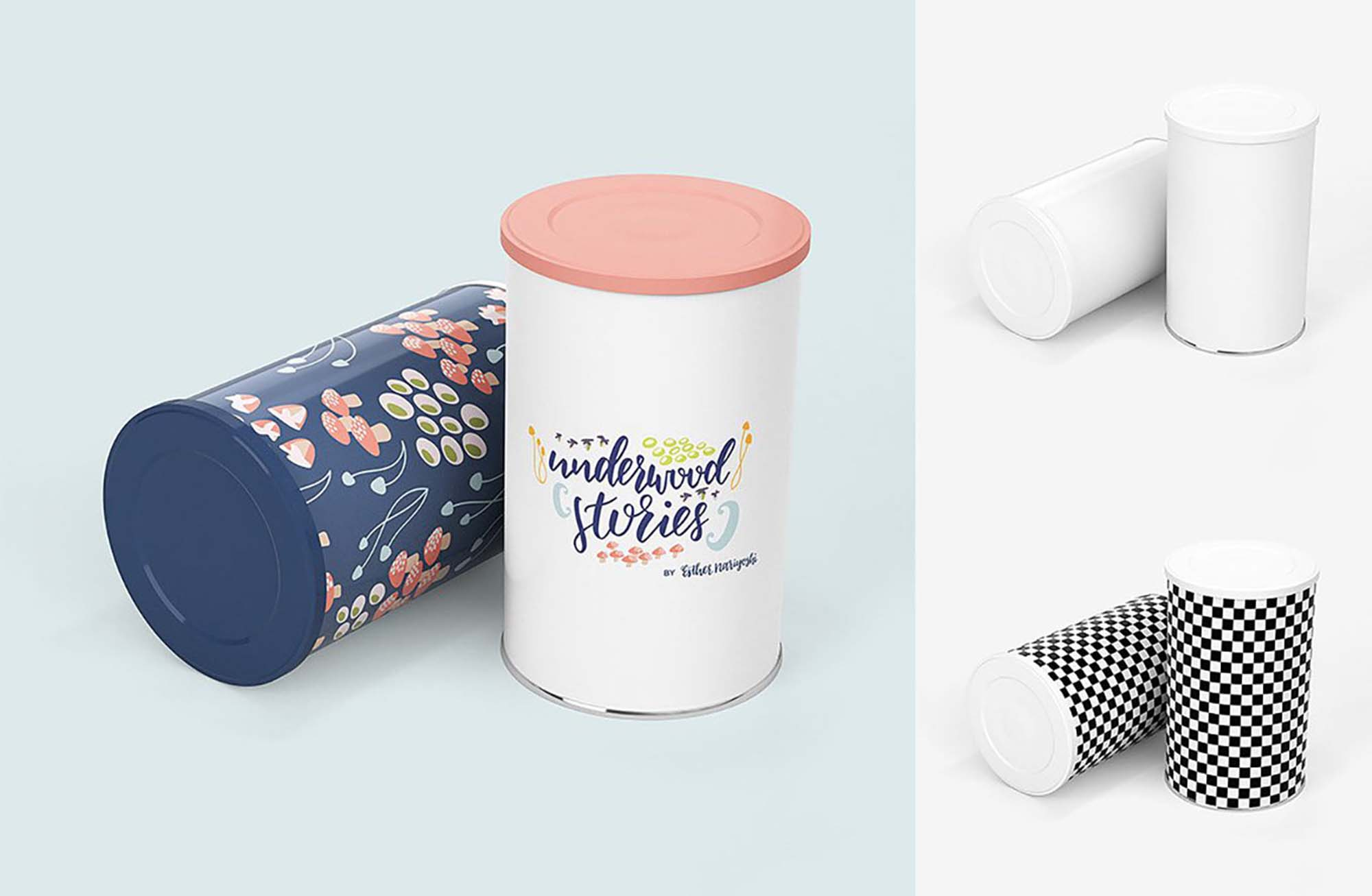 Tin Canister Mockup