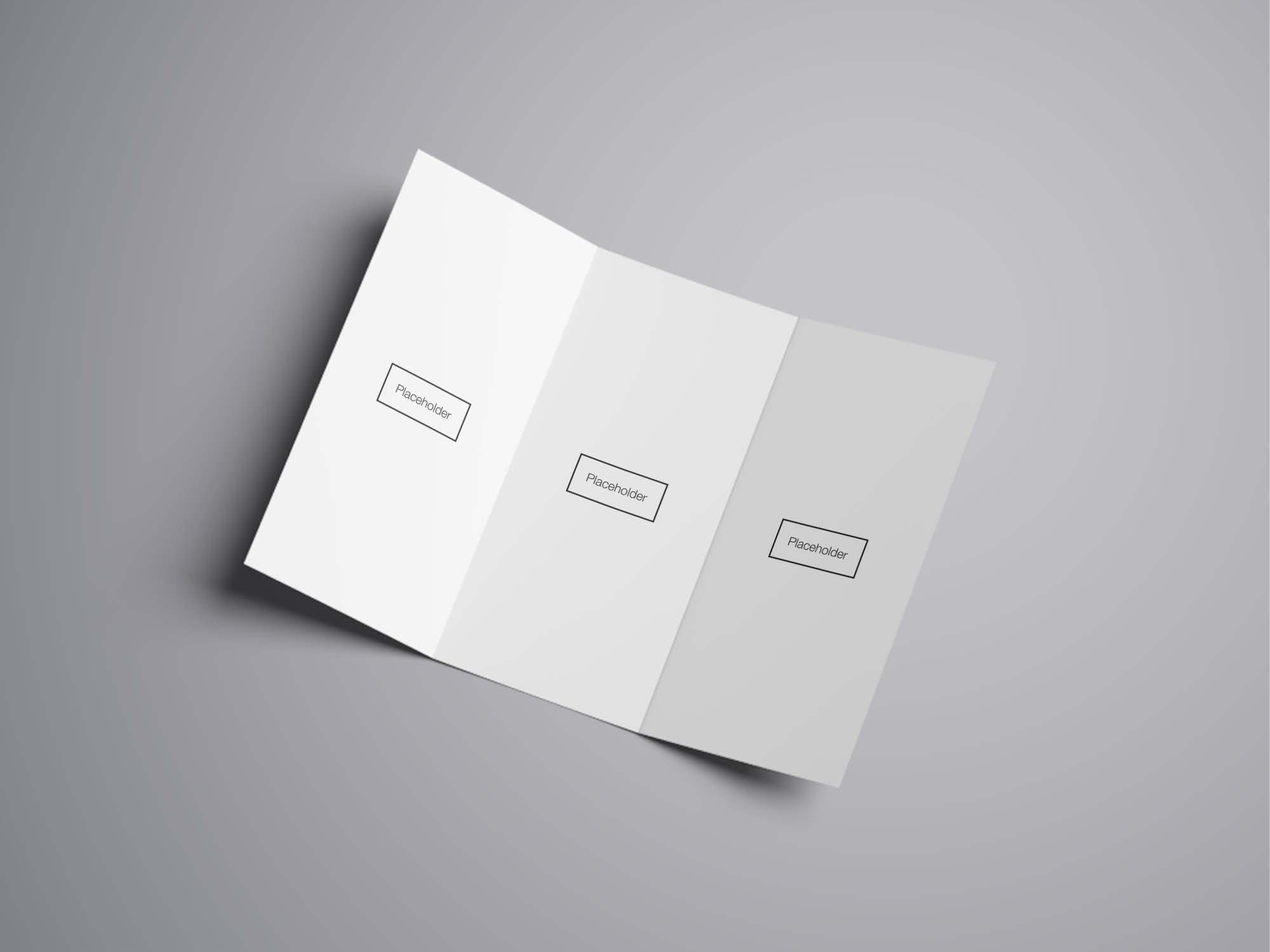 free trifold brochure mockup  psd
