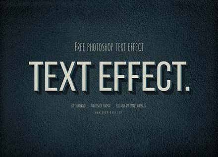 Top Free Photoshop Text Effects