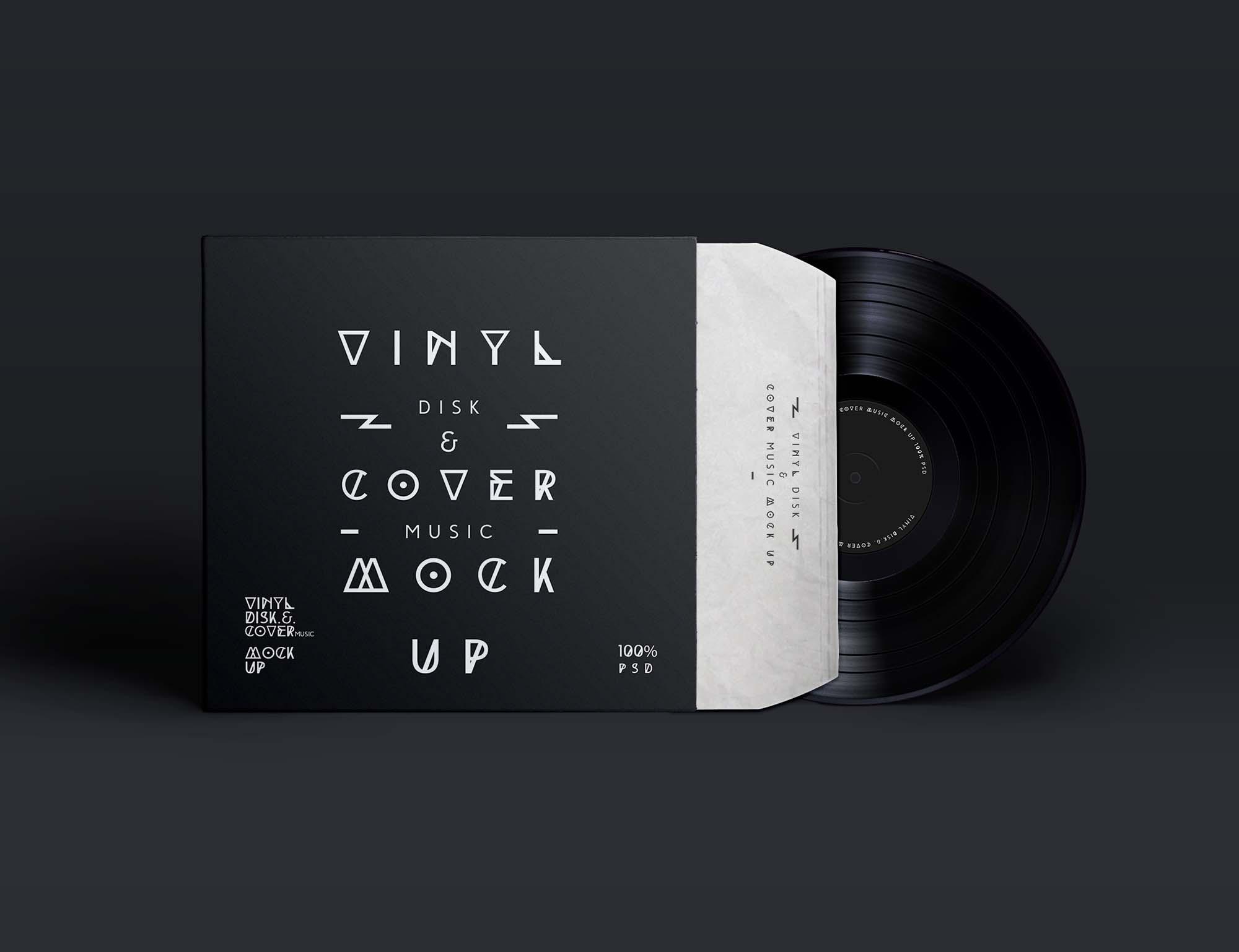 Vinyl Record & Cover Mockup