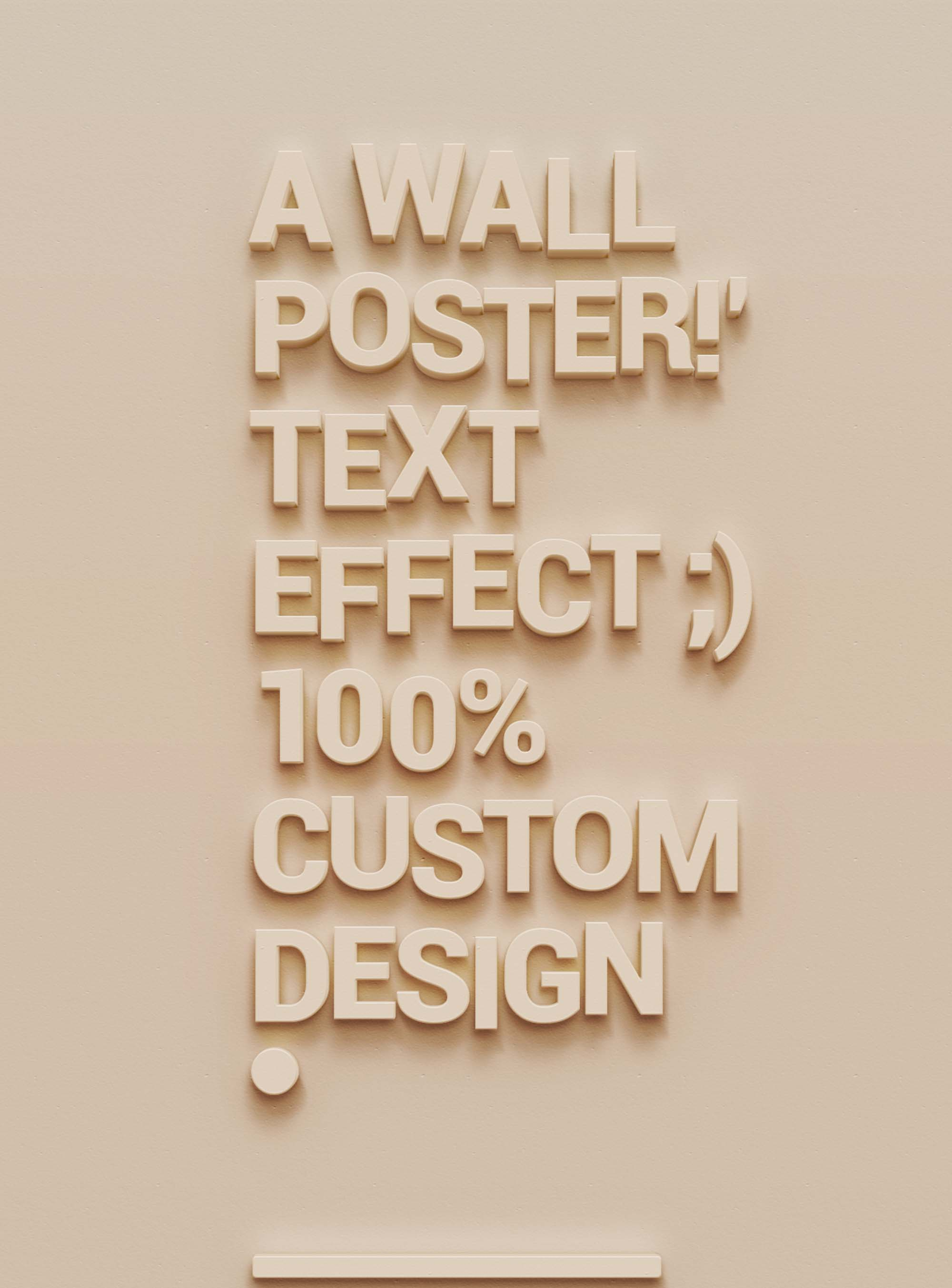 Wall Poster Text Effect