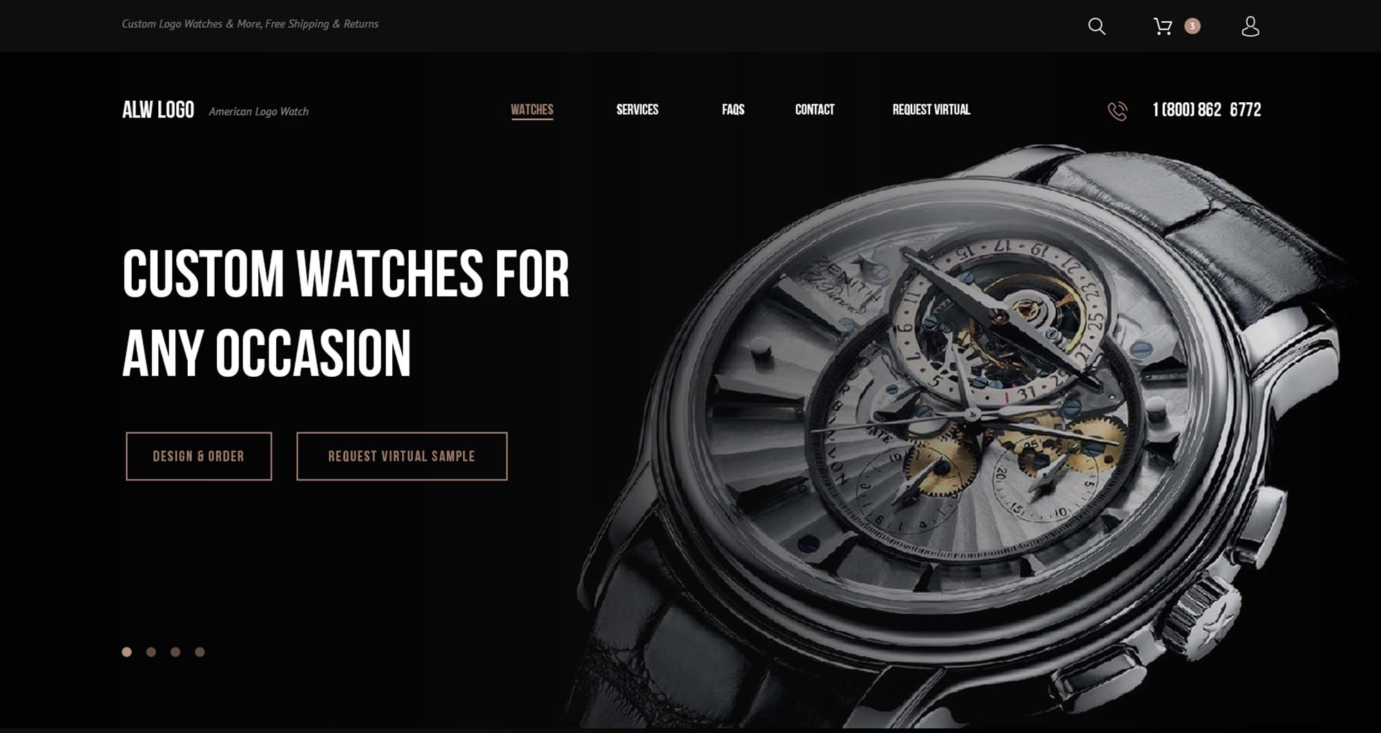 Watch Website Template
