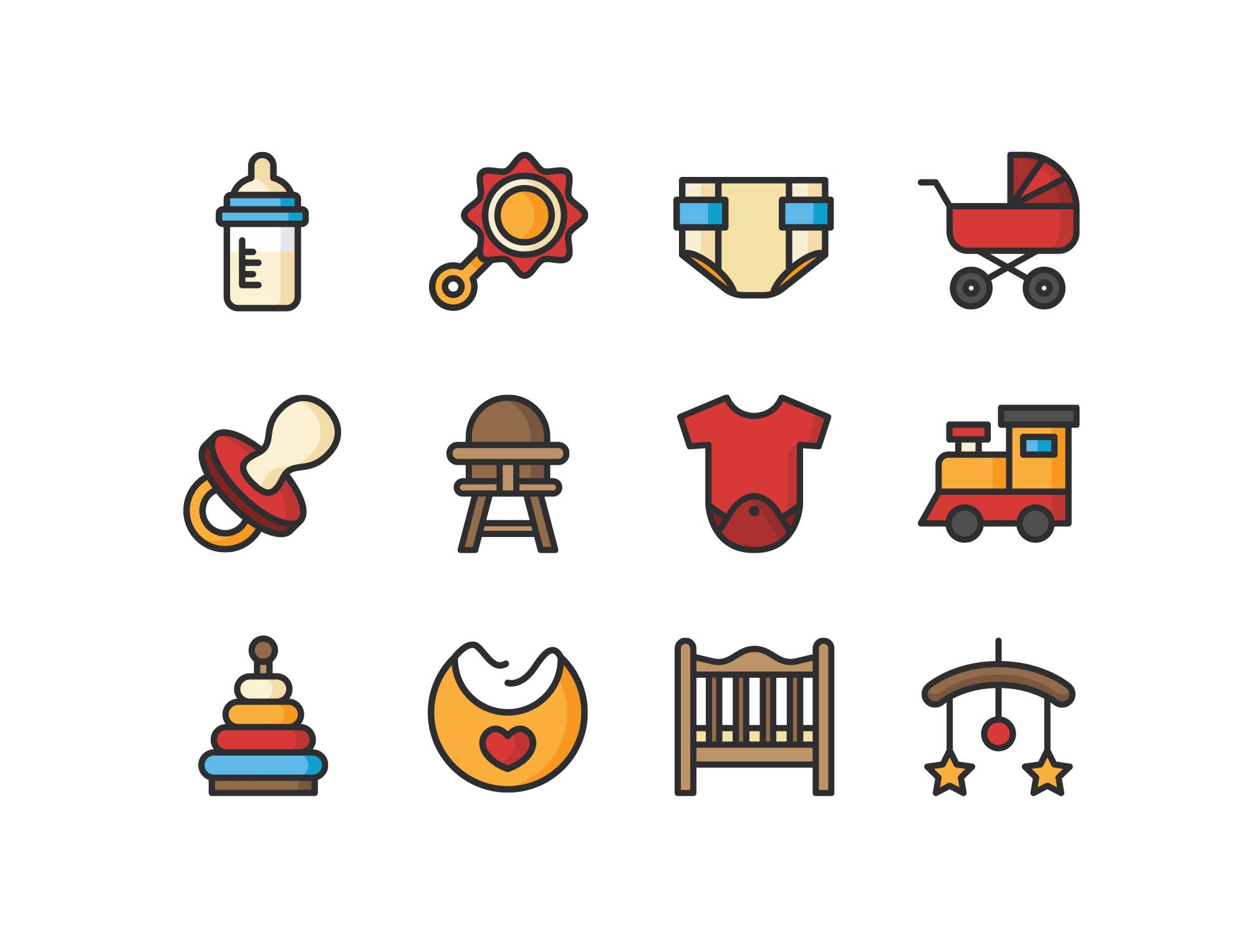 Colored Baby Icons
