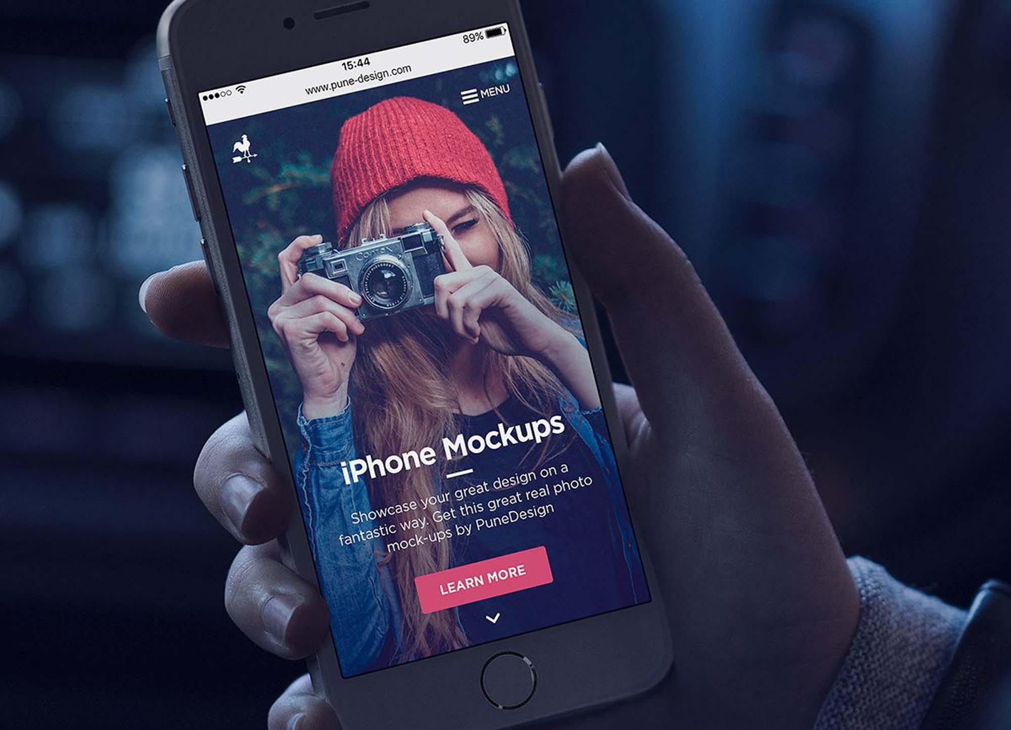Photorealistic iPhone Mockup