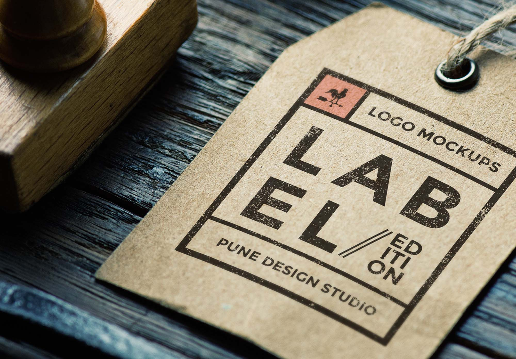 Logo Label Mockup