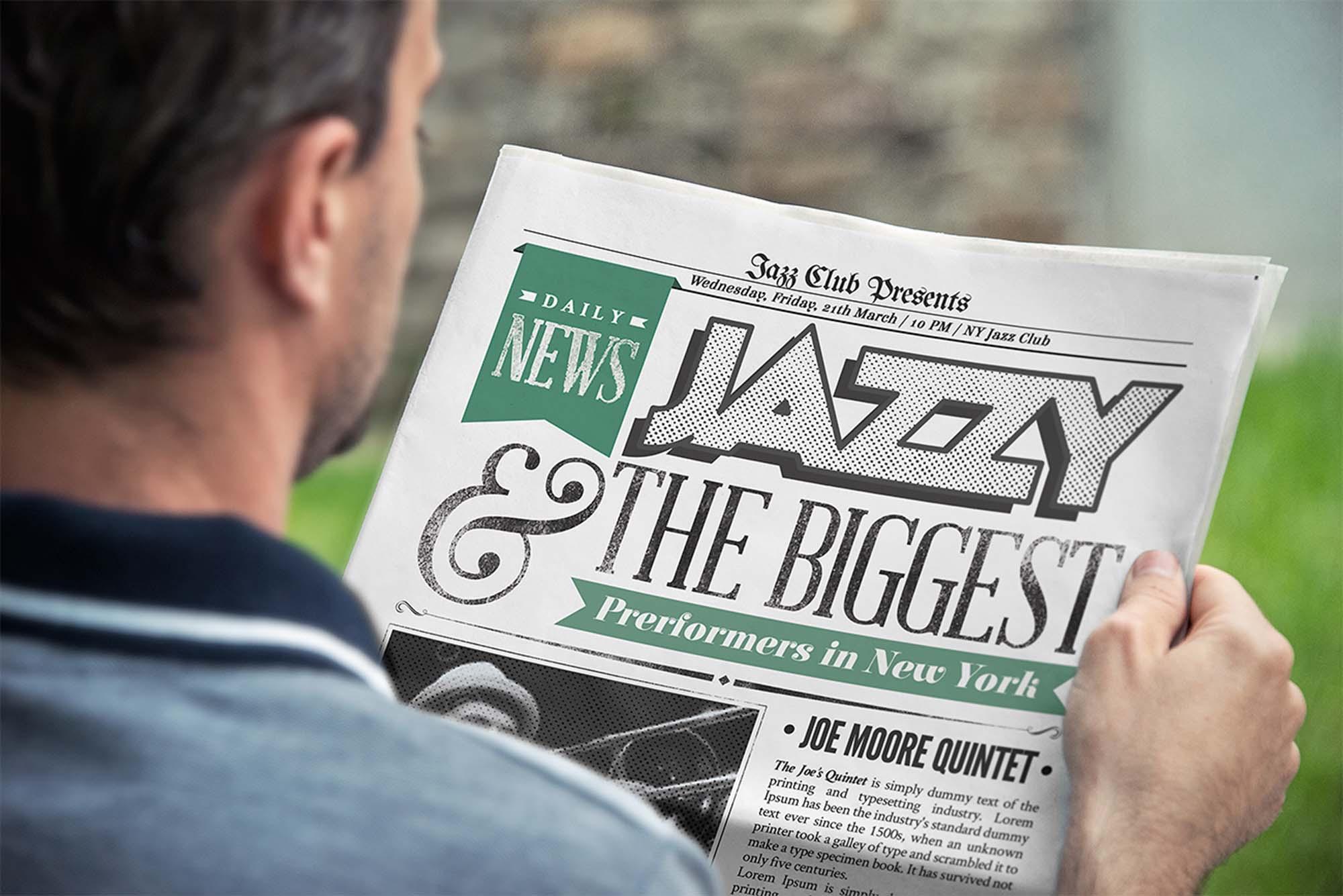 Photorealistic Newspaper Mockup