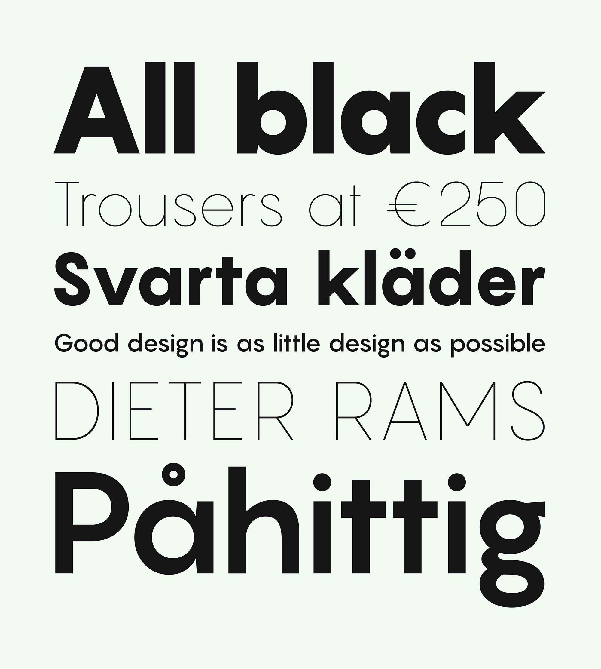 Pangram Sans Font