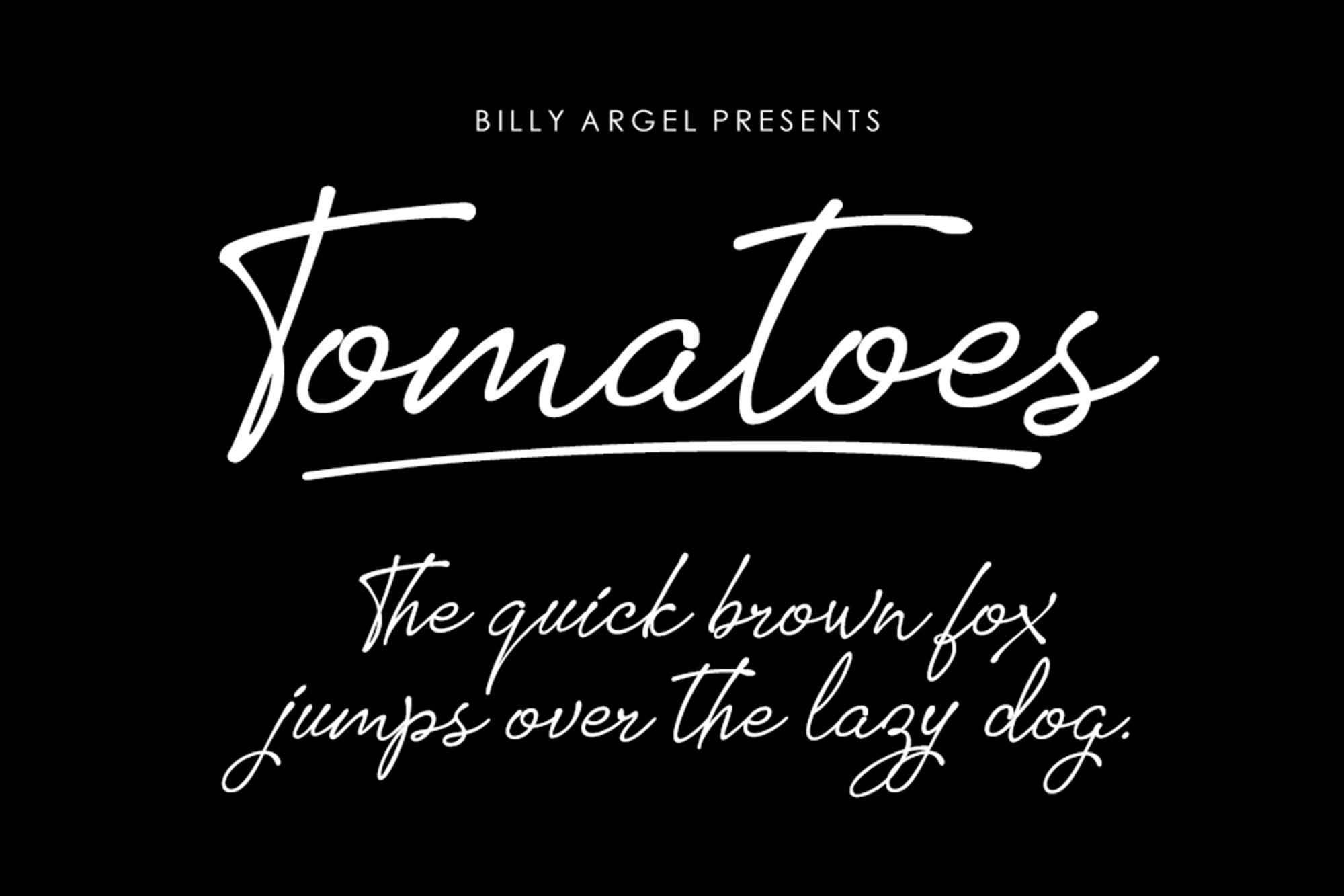 Tomatoes Font