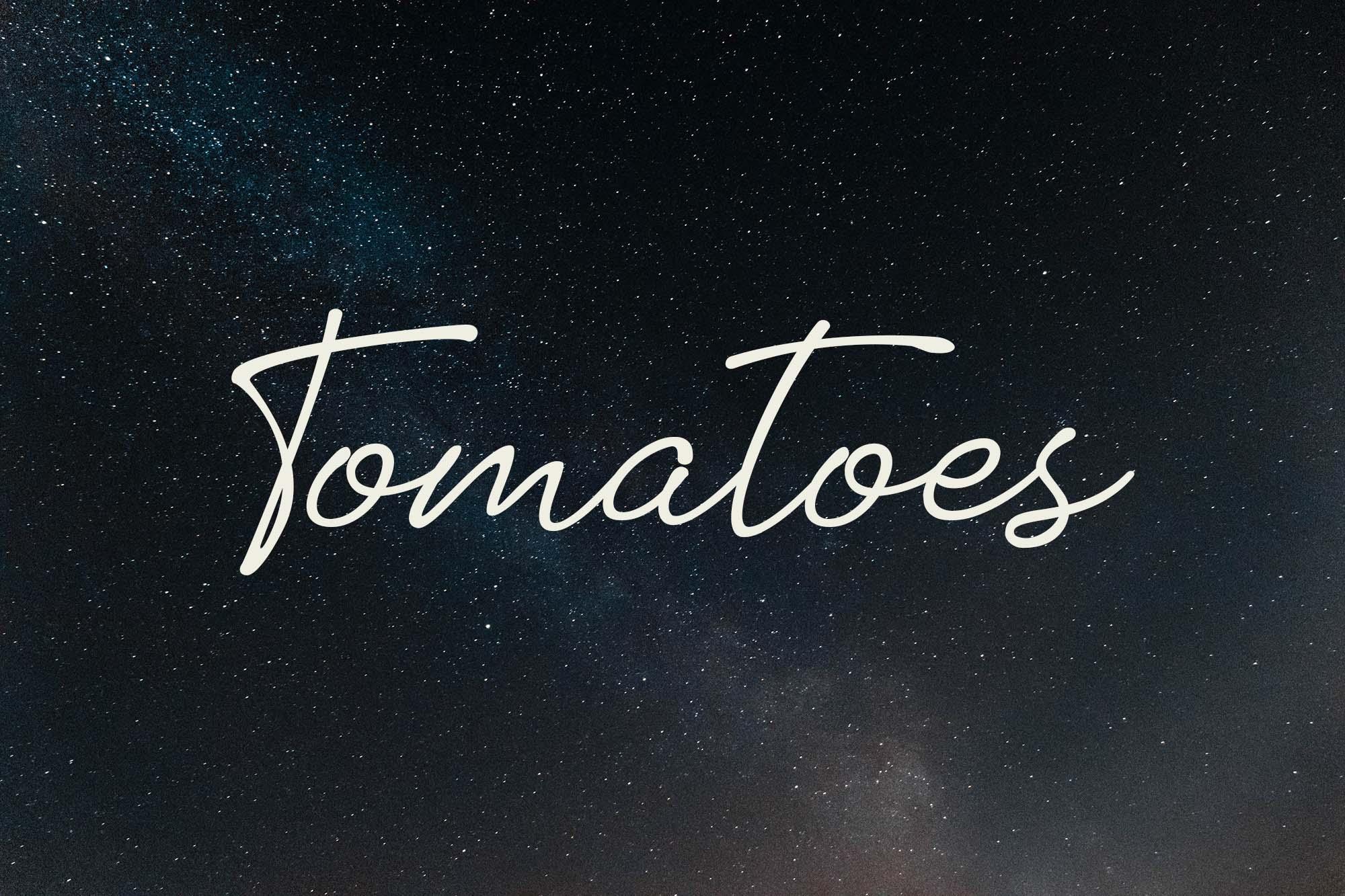 tomatoes hand font