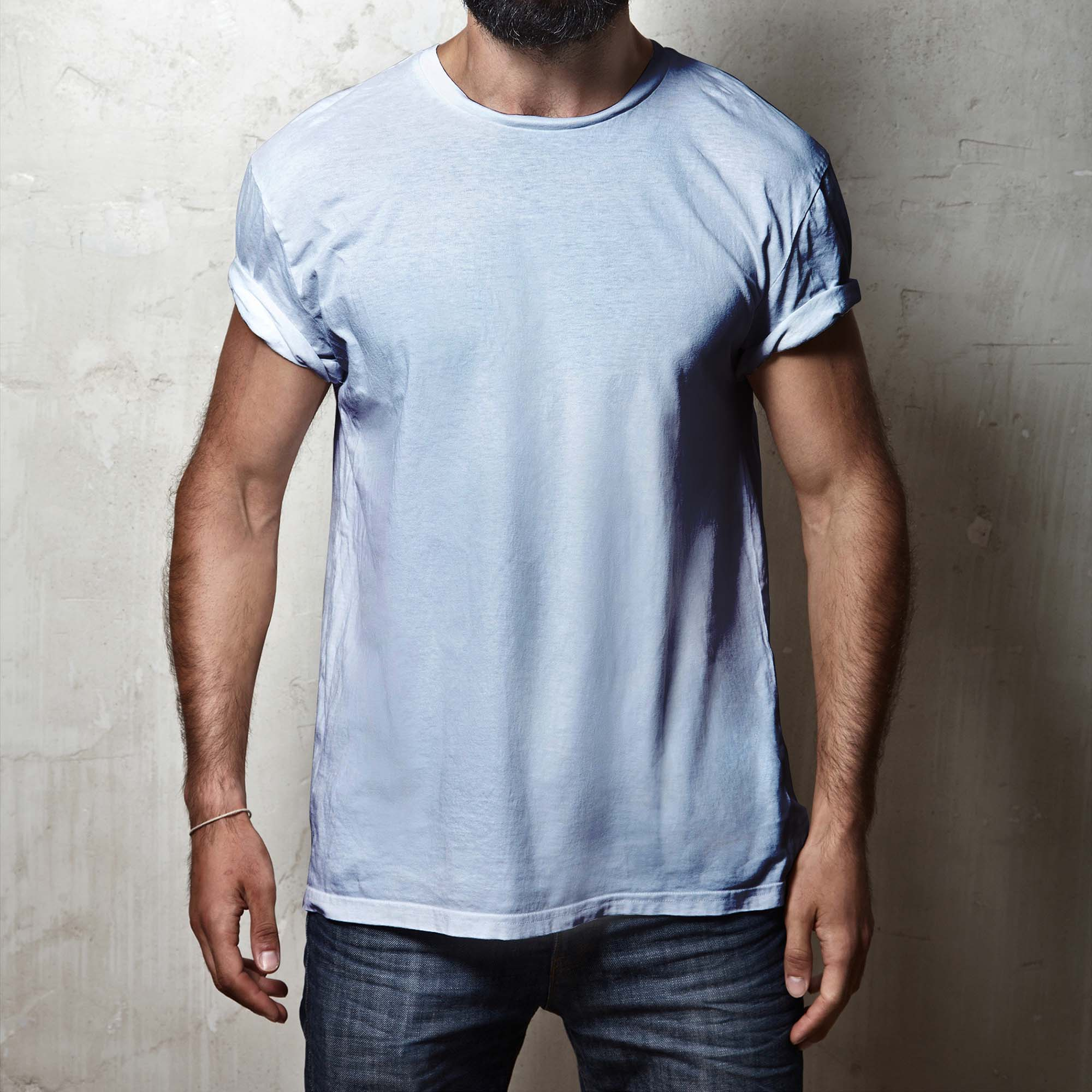 f3fc7beee Cool Guy Wearing Round Neck T-shirt Mockup (PSD)