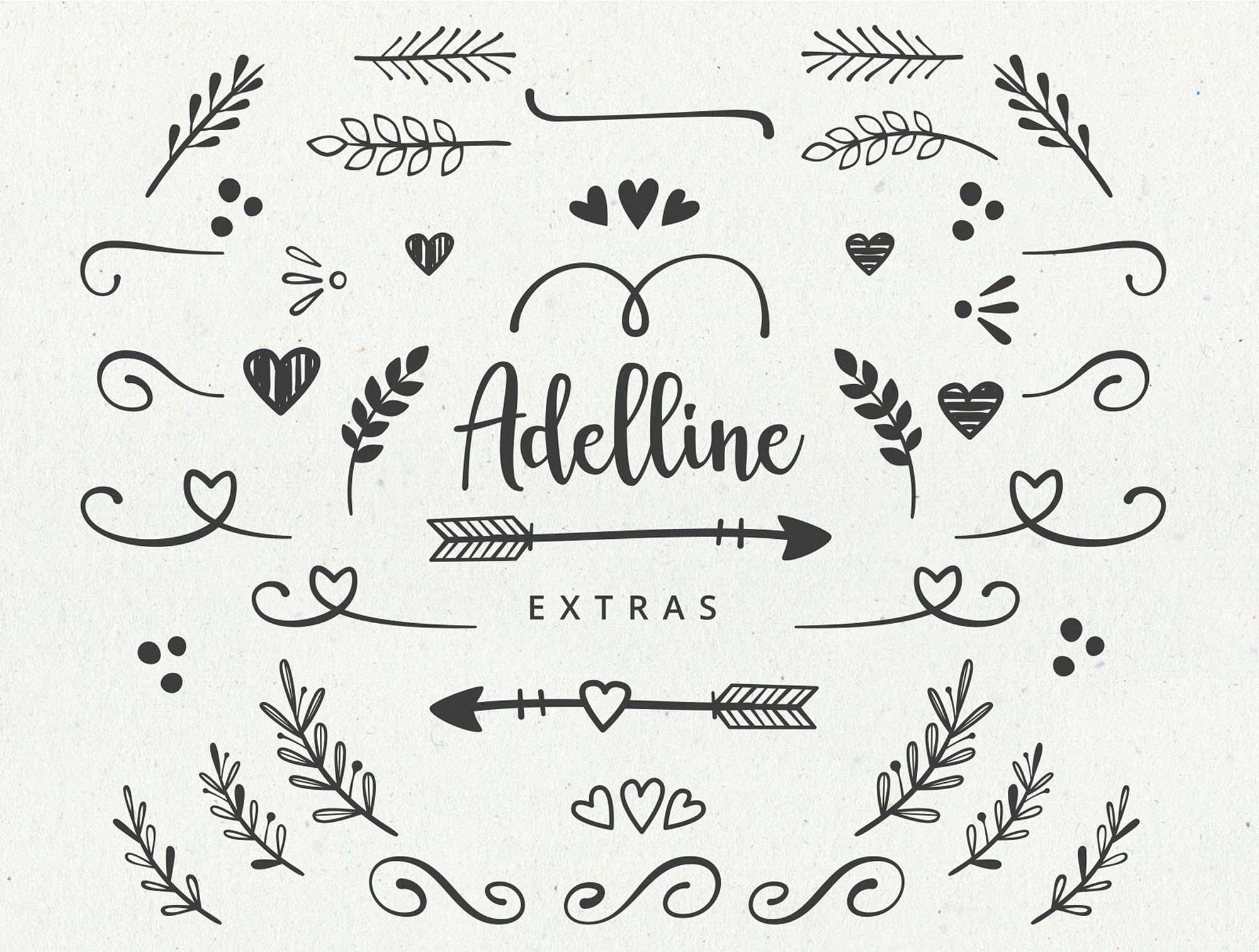 Adelline Script Font