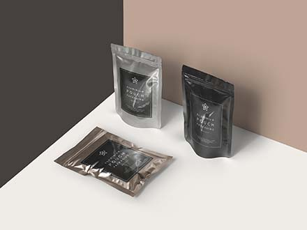 Metal Foil Packaging Mockup