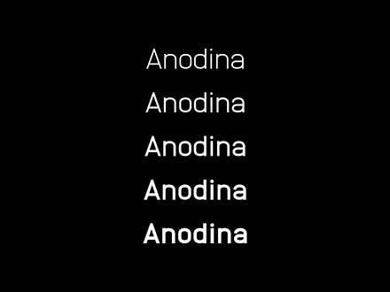 Anodina Font Family
