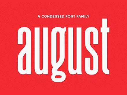 August Font Family