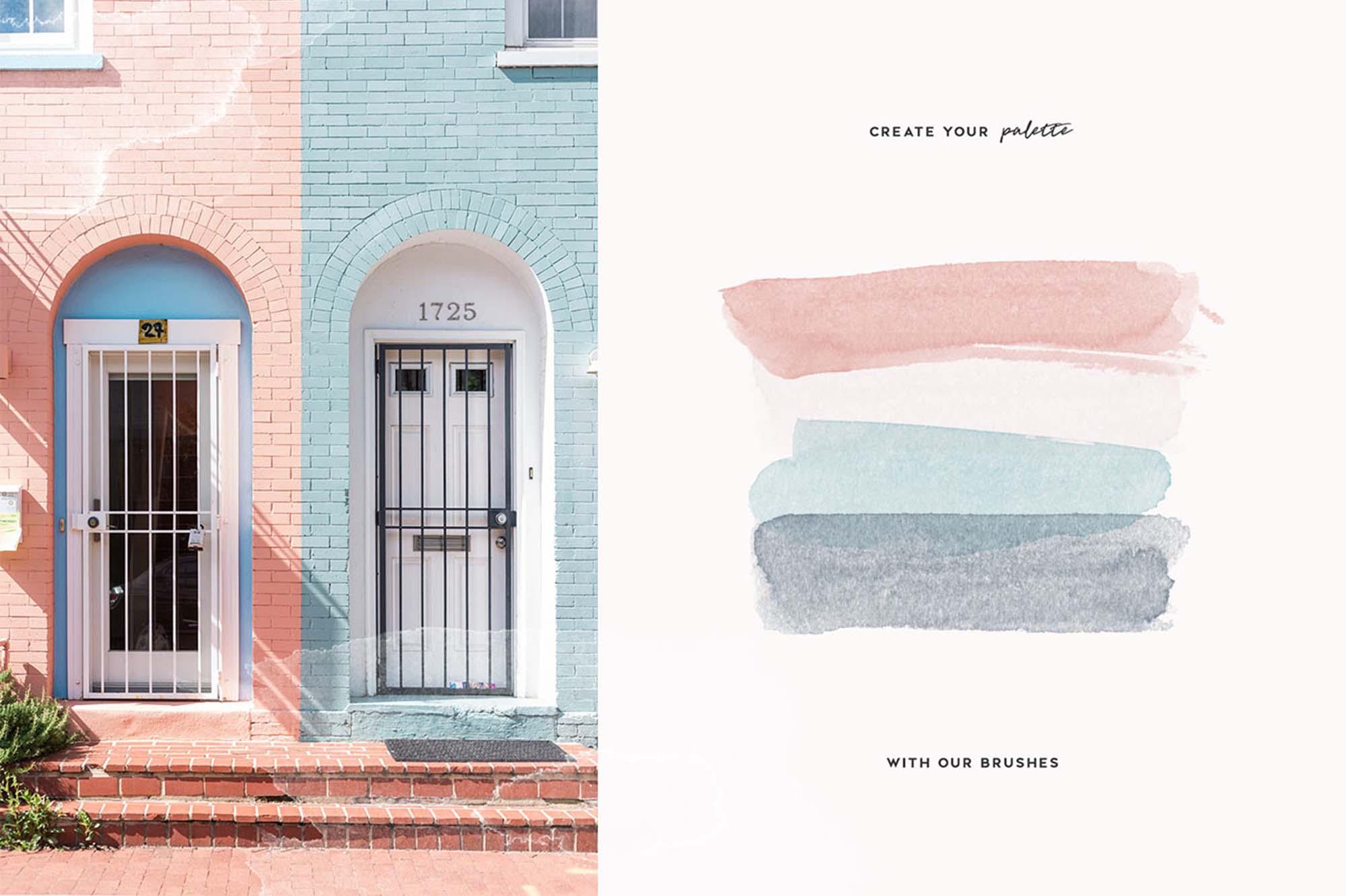 Aurora Watercolor Brushes