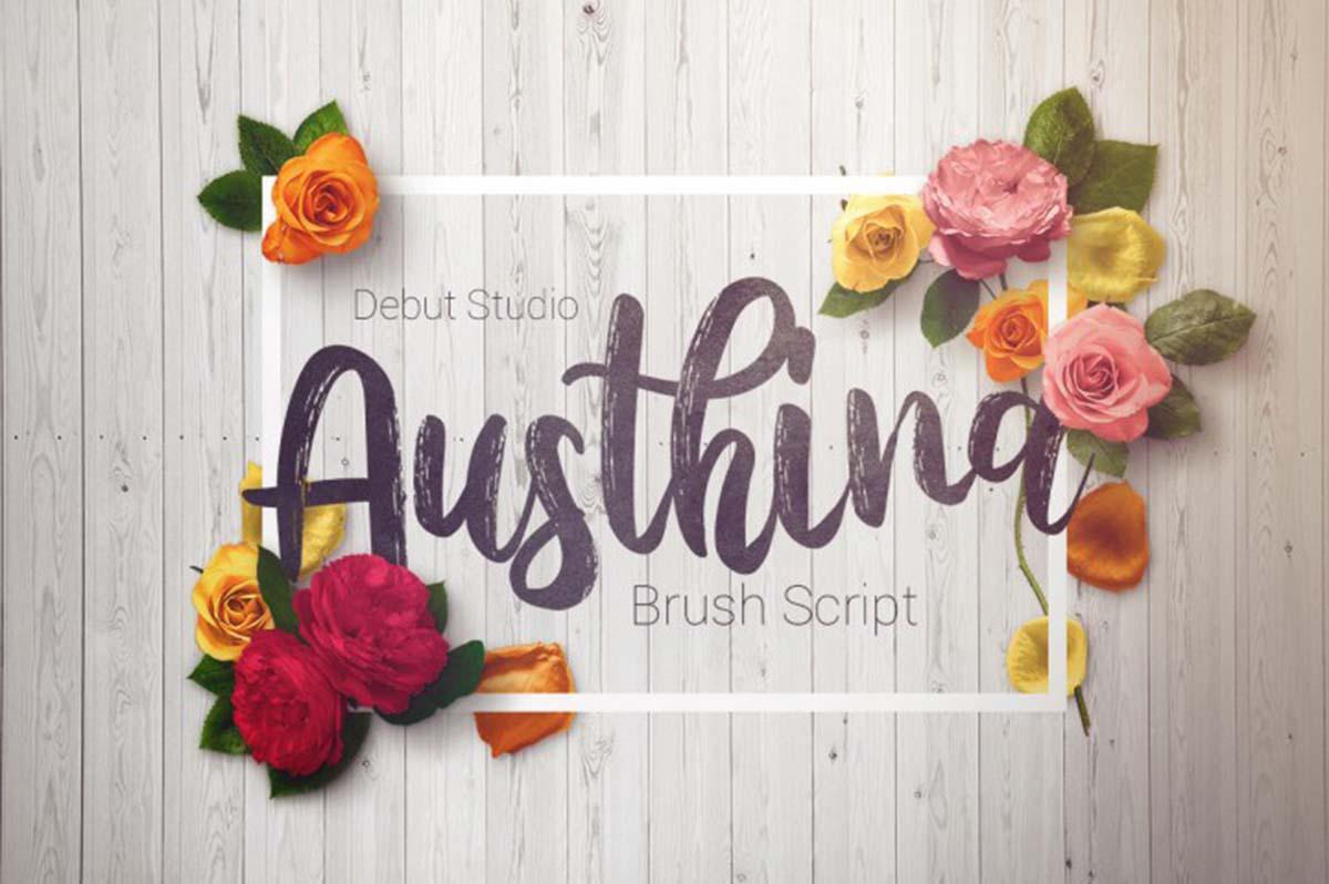 Austhina Script Font