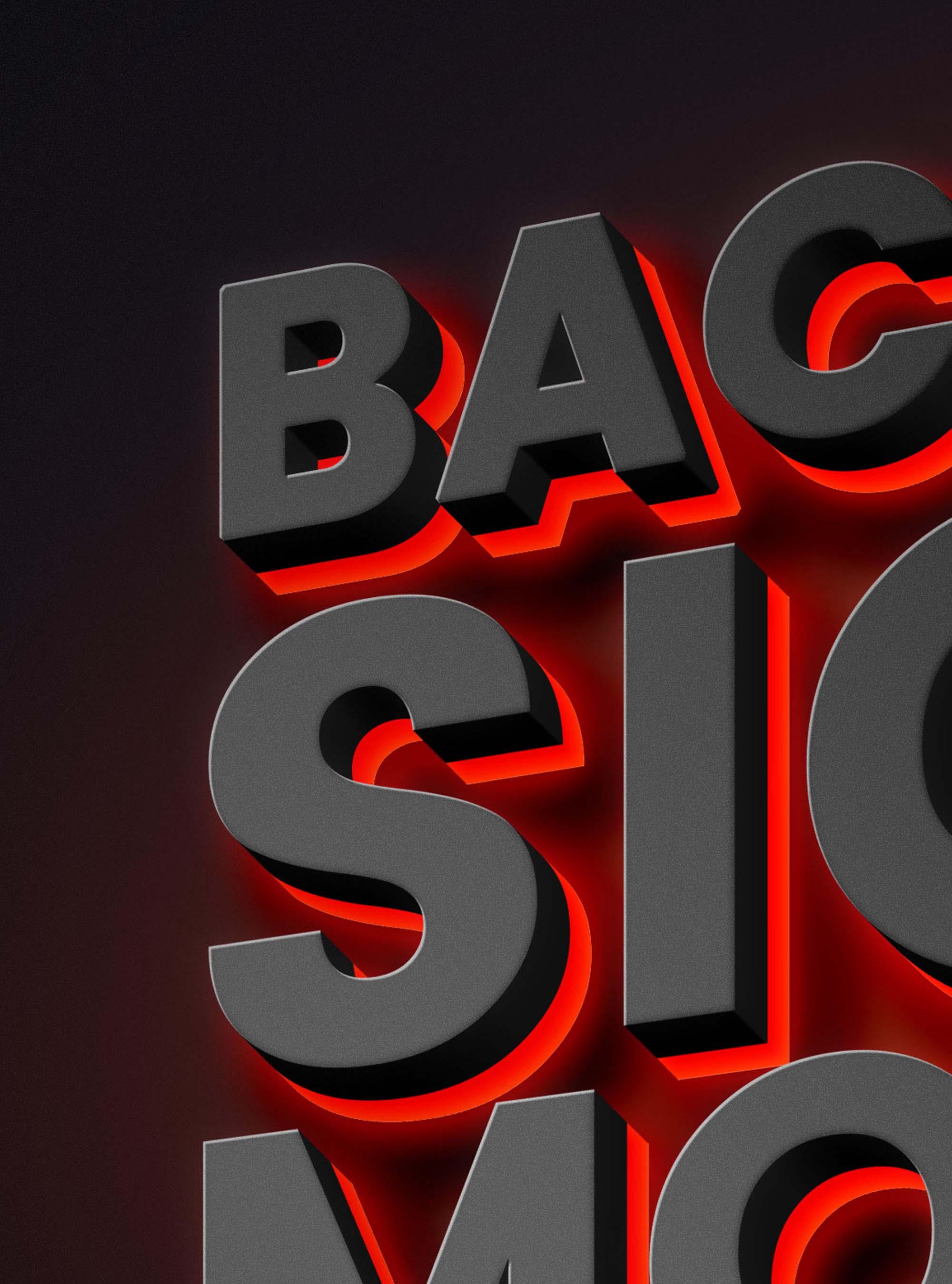 Backlit Sign Text Effect