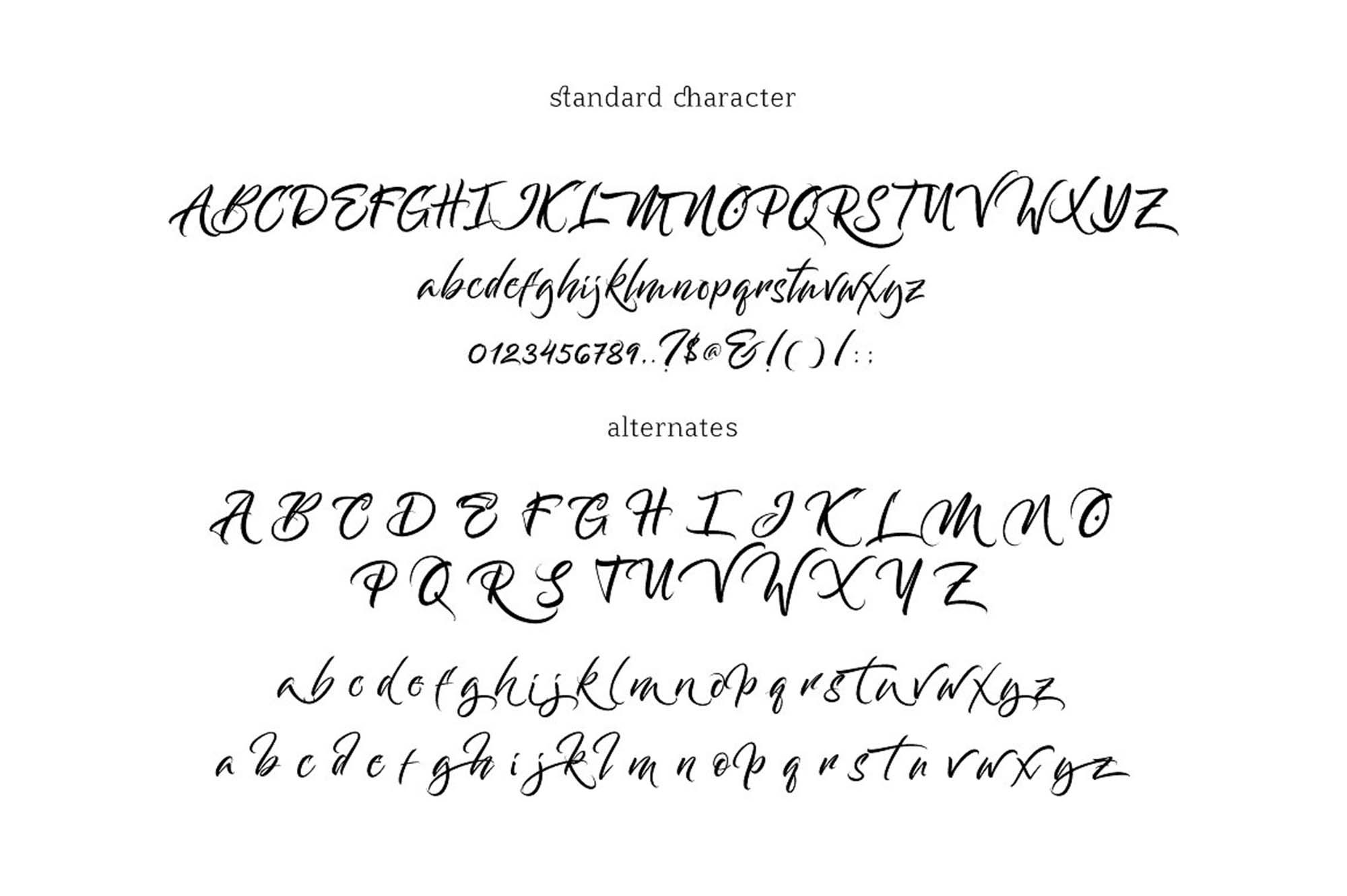 Bantham Font Characters