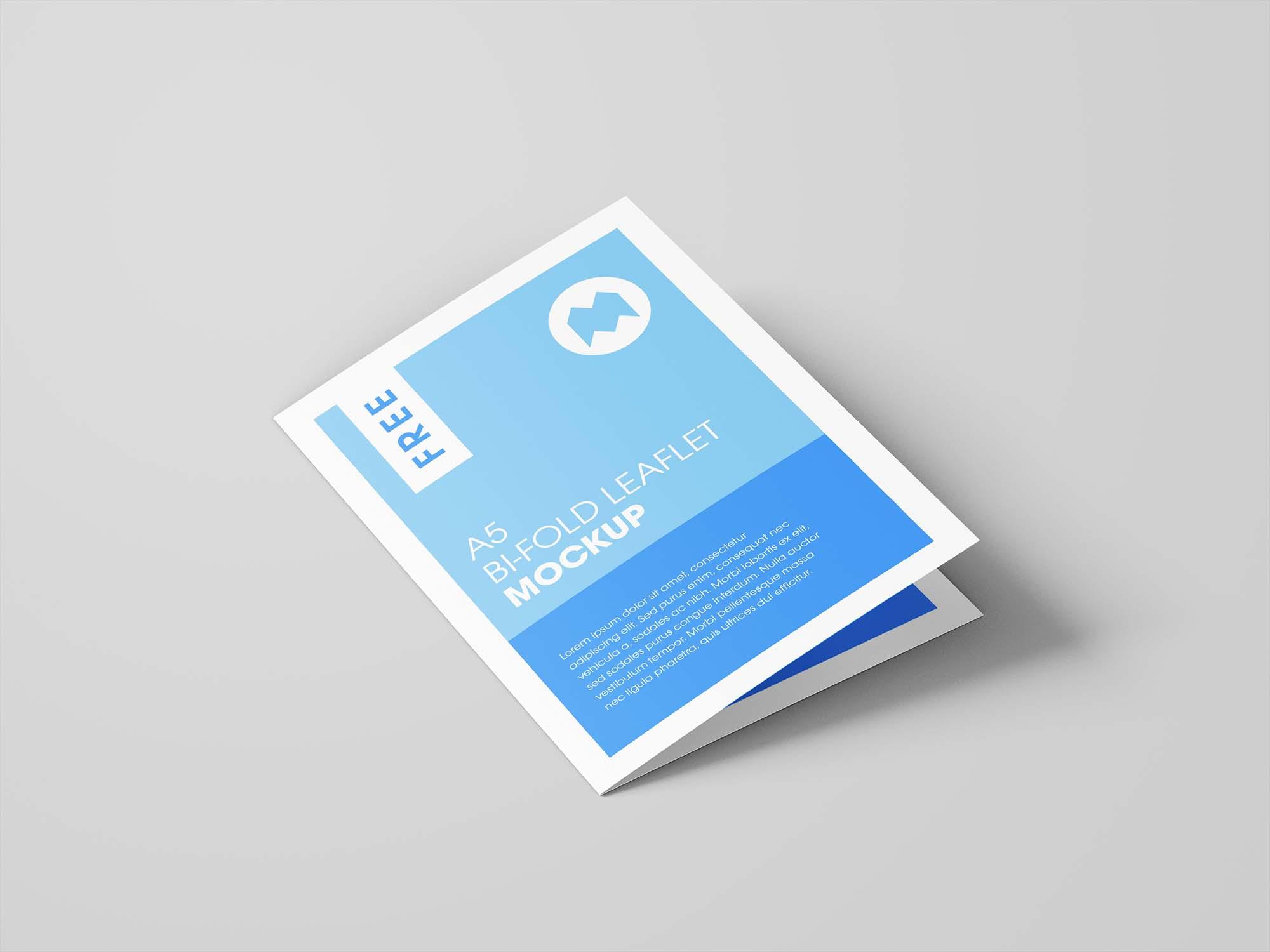 Bifold Leaflet Brochure Mockup