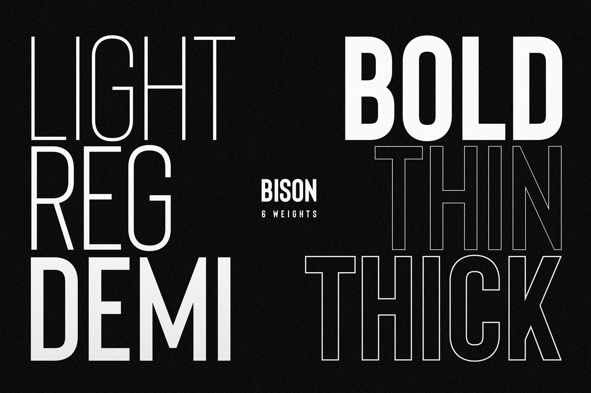 Bison Font Weights