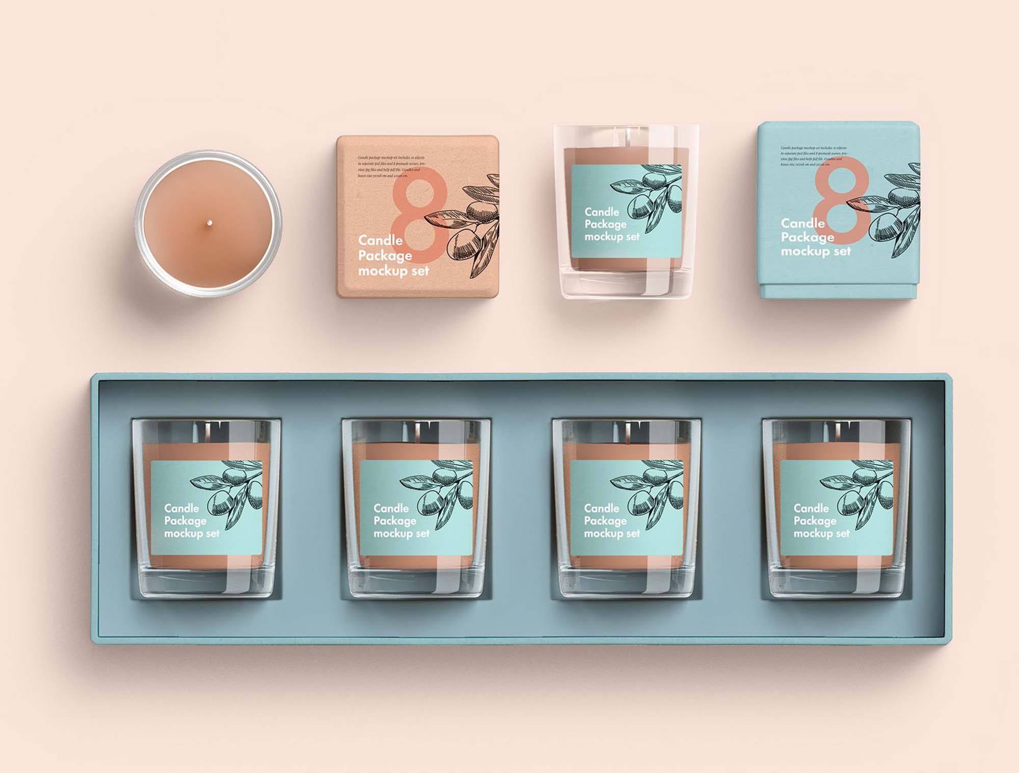Candle Package Mockup