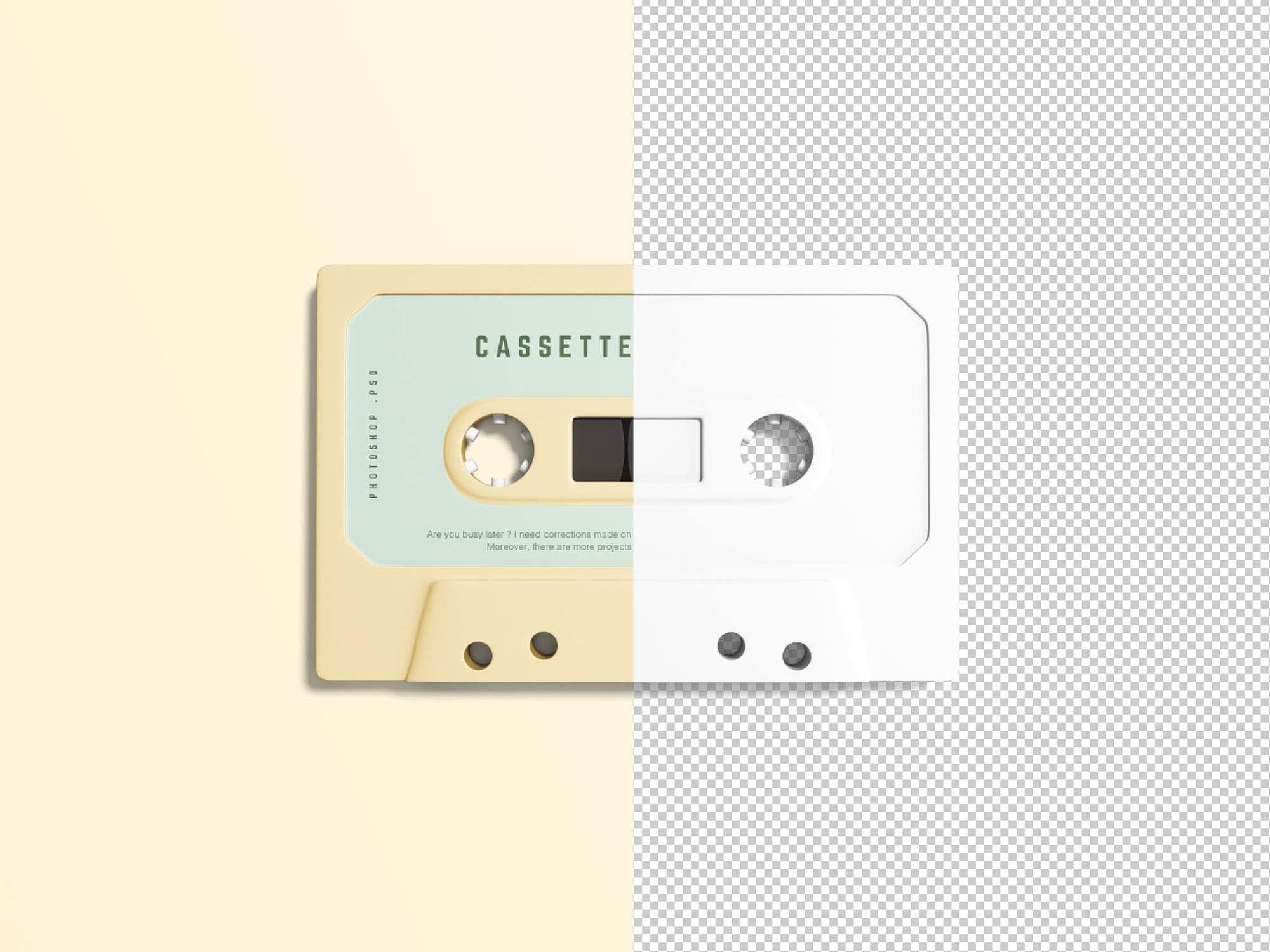Cassette mockup psd