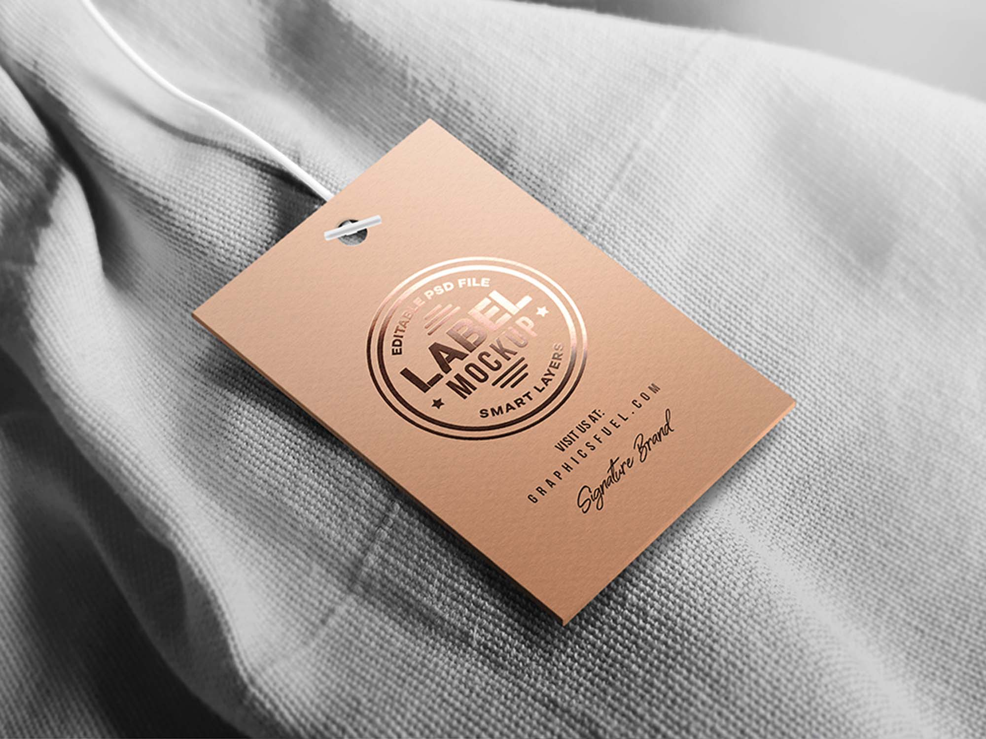 Free Clothing Tag Label Mockup Psd