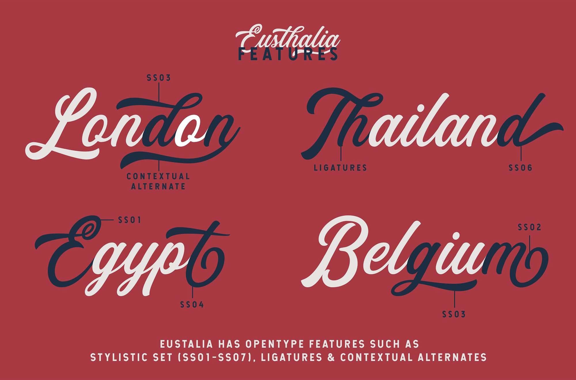 Eusthalia Typeface