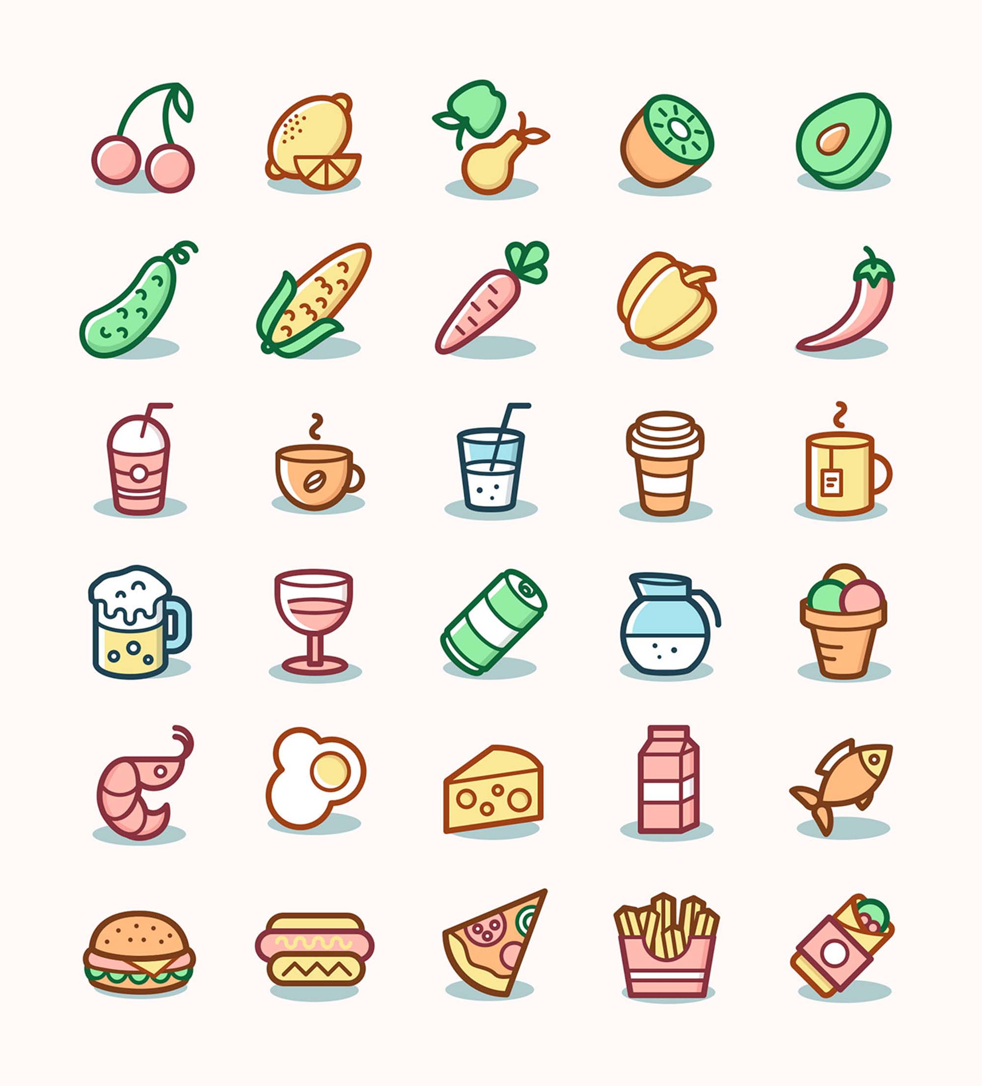 Food & Drinks Icons