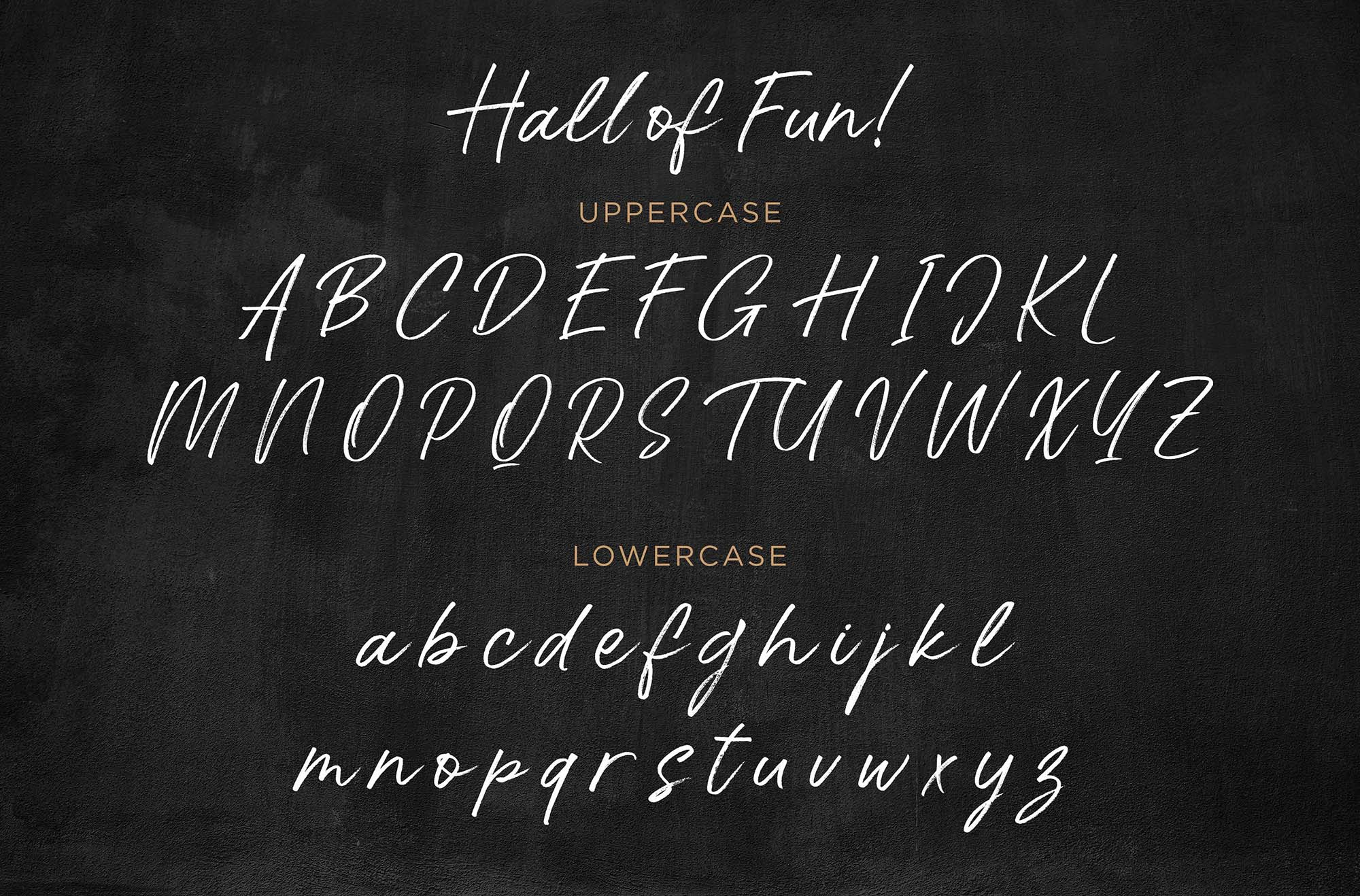 Hall of Fun Font