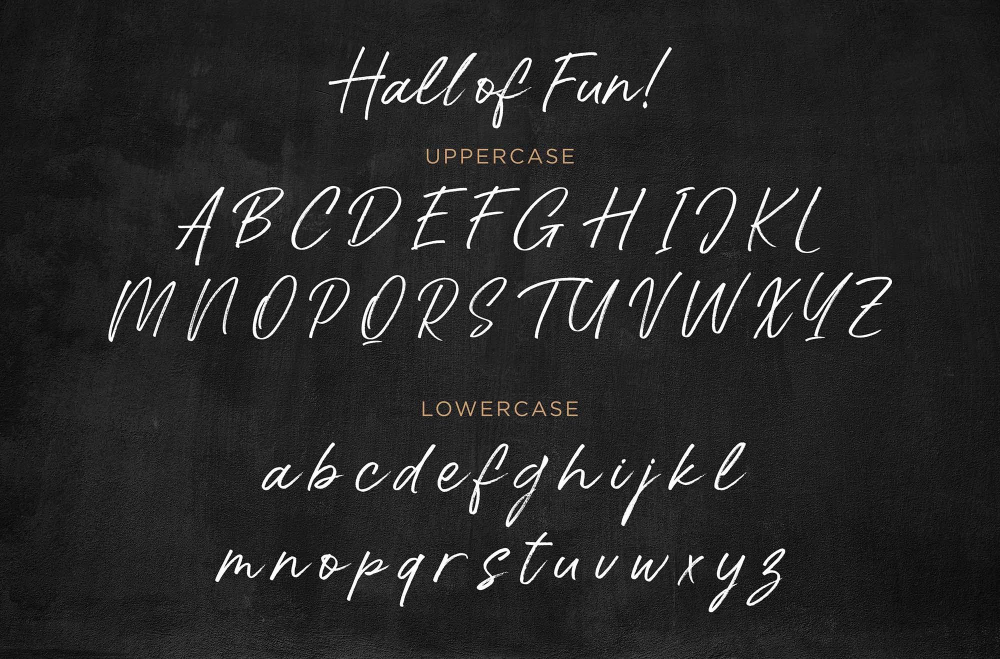 Hall of Fun Font