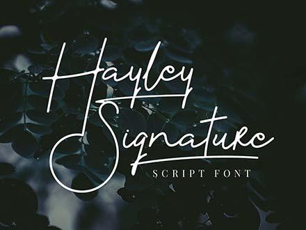 Hayley Signature Script Font