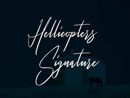 Hellicopters Script Font