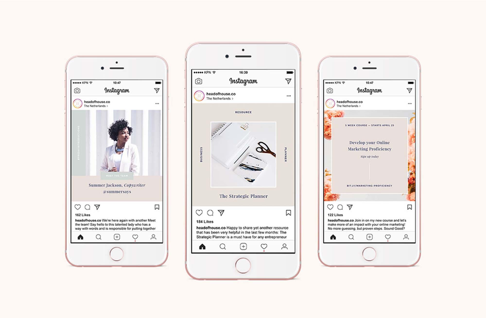 Hepburn Free Instagram Templates Kit