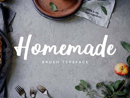 Homemade Brush Typeface