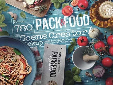 Italian Lunch Scene Creator Mockup