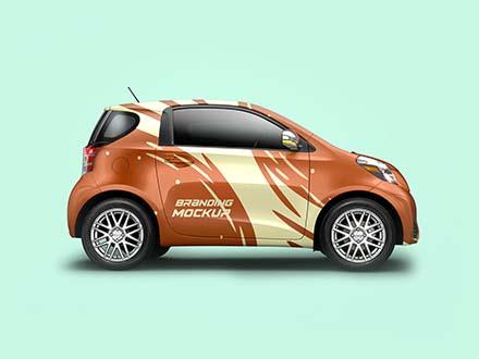 Mini Car Branding Mockup