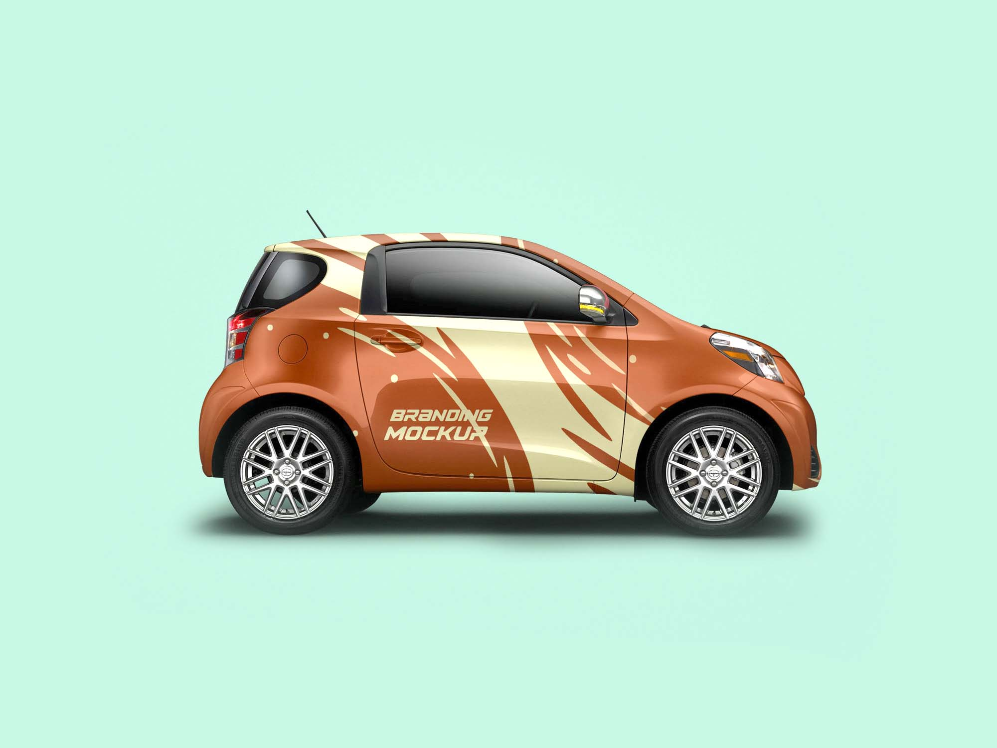 Mini Electric Car Branding Mockup