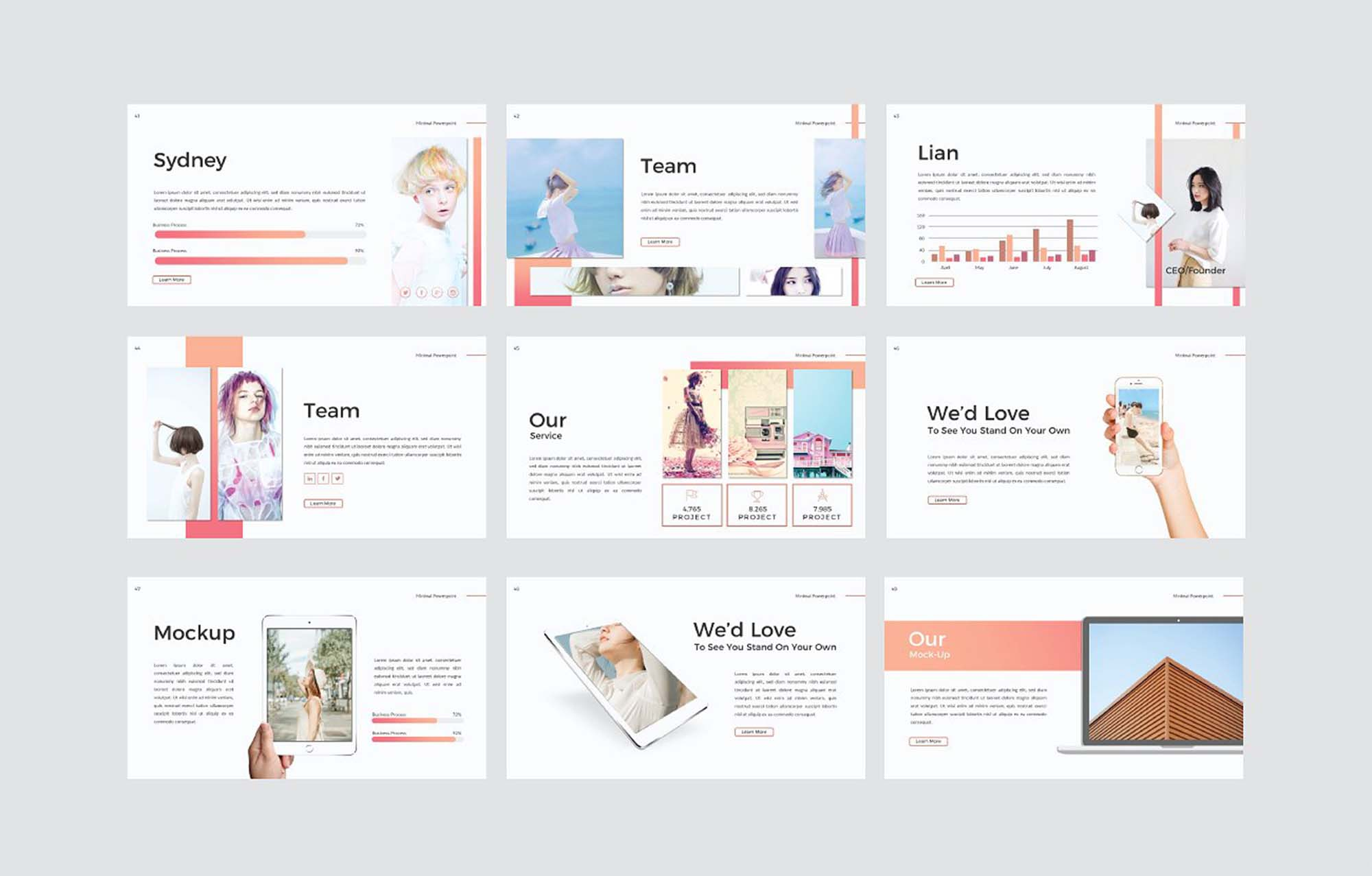 minimal powerpoint and keynote presentation template, Minimal Presentation Template, Presentation templates