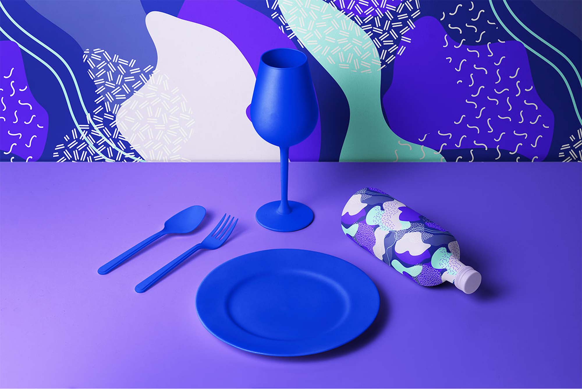 Mint & Lavender Vector Patterns