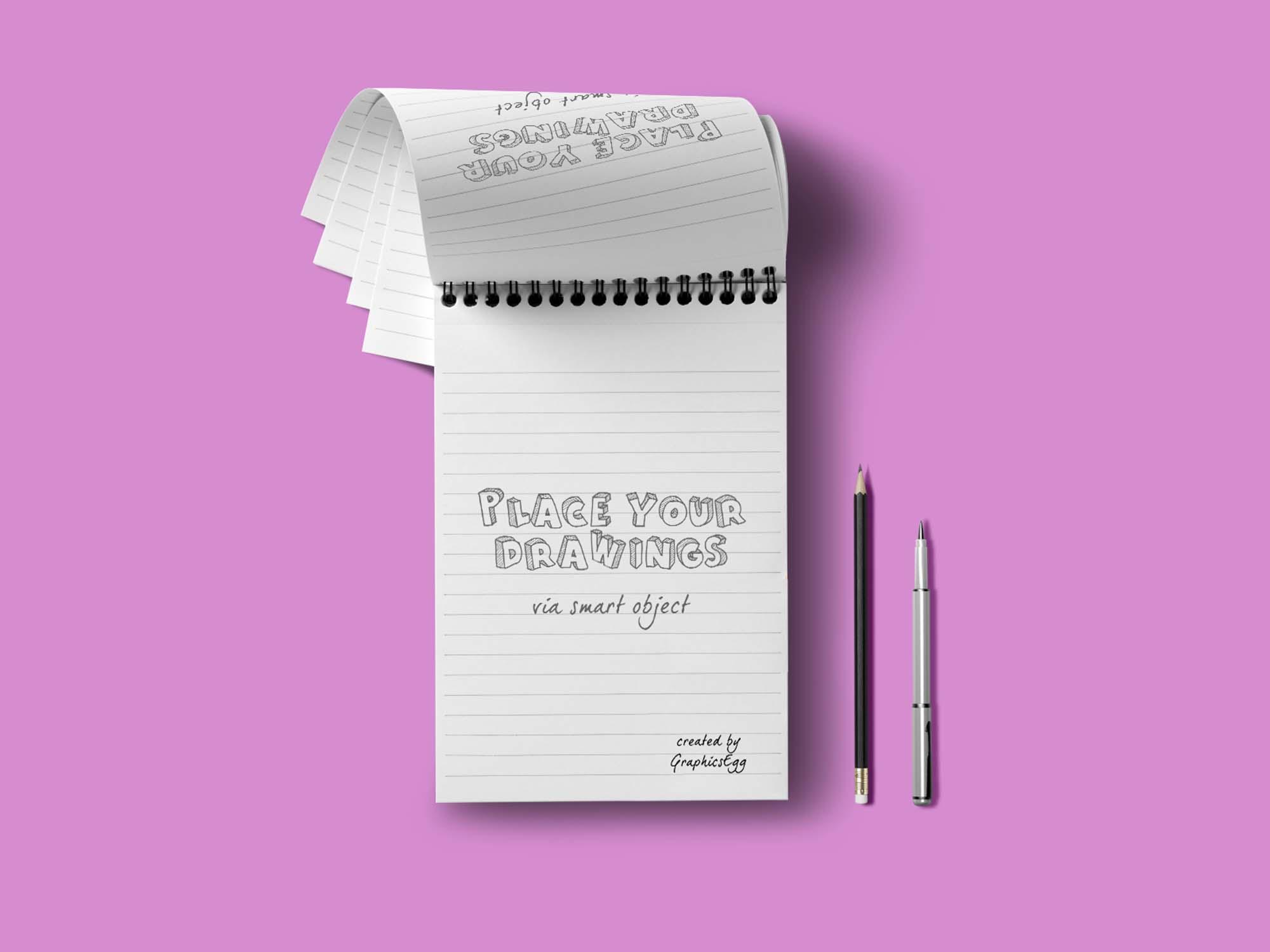 Notebook Mockup (PSD)