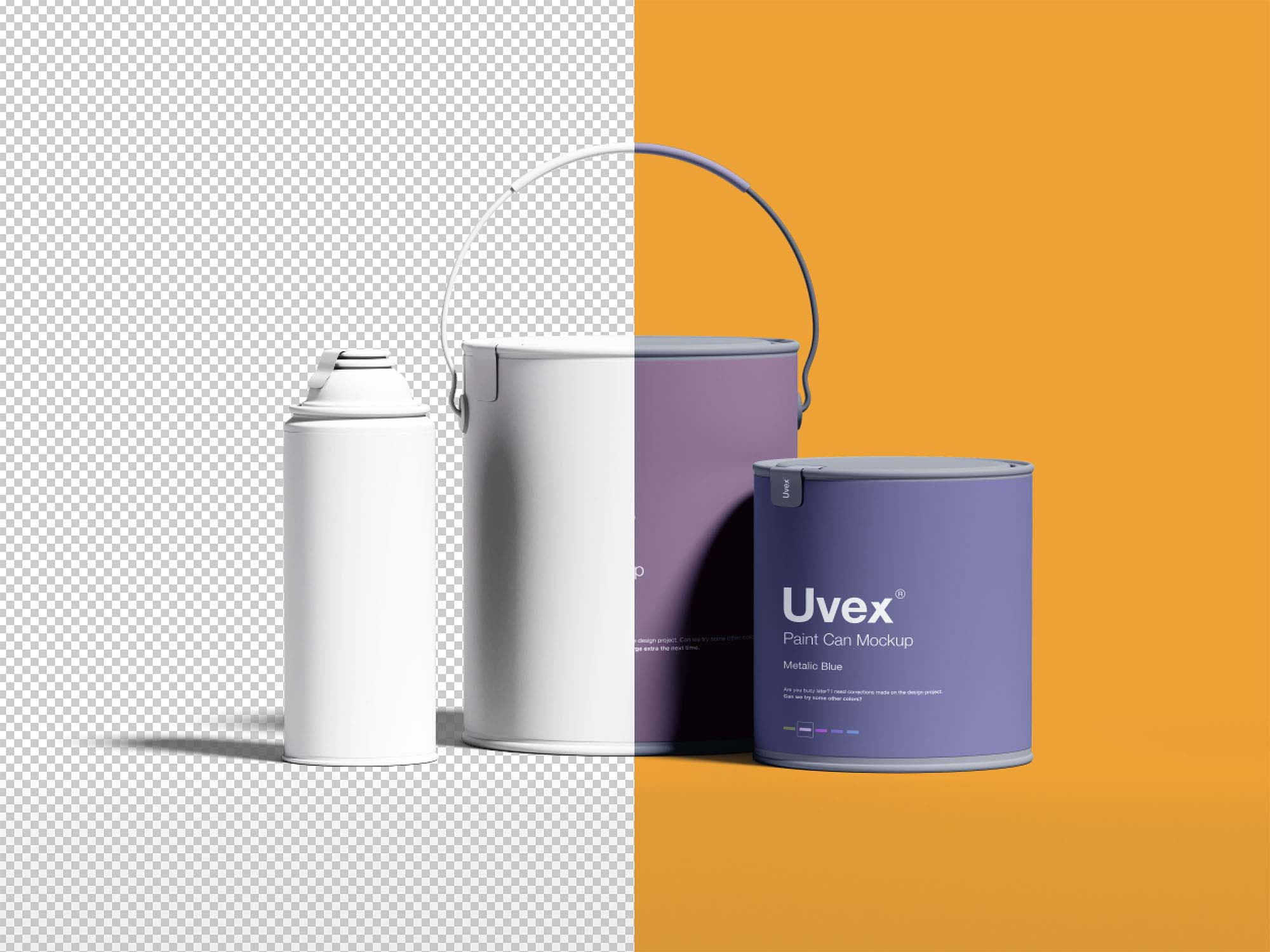 Free Paint Packaging Mockup Psd