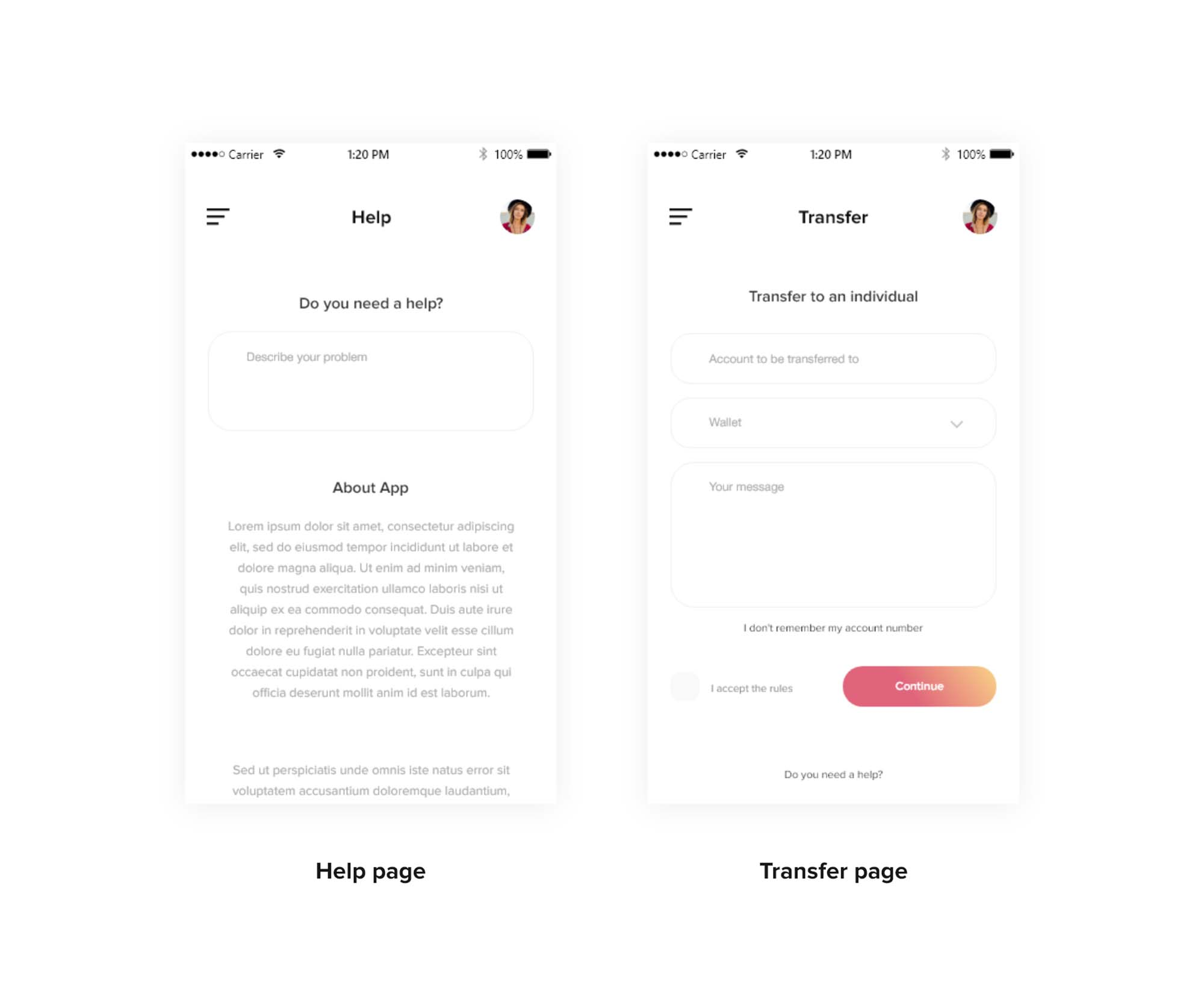 Wallet Ui Template
