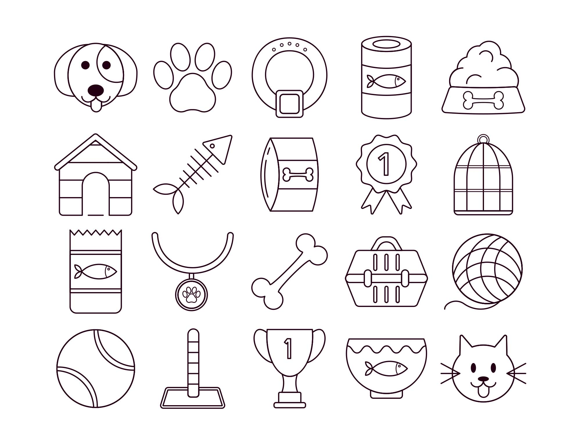 Pet Vector Free Icon Set