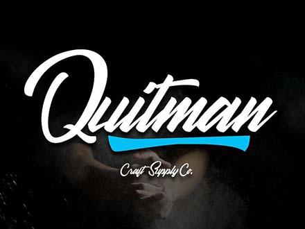 Quitman Script Font