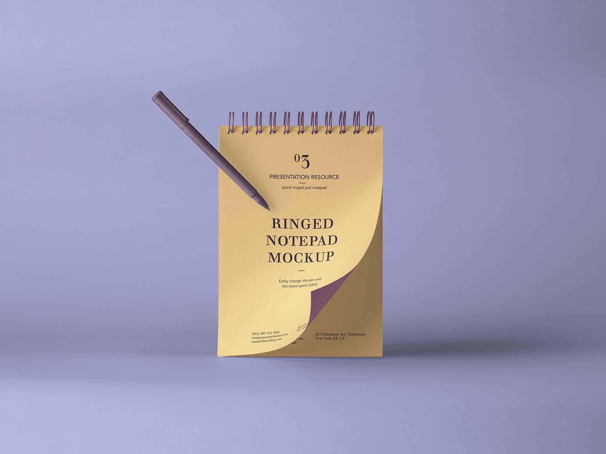 Ringed Notepad Mockup