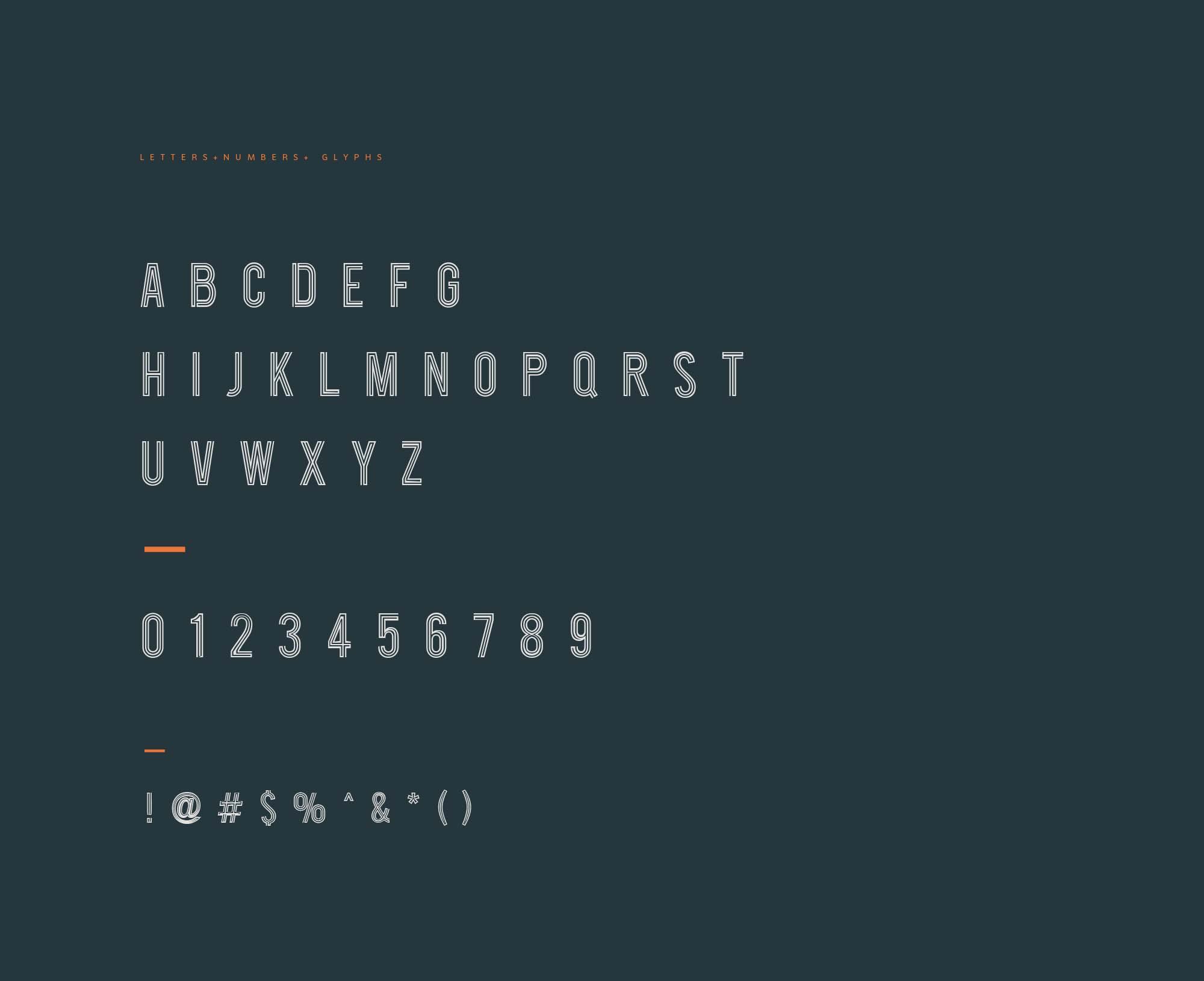Roadster Font Letters